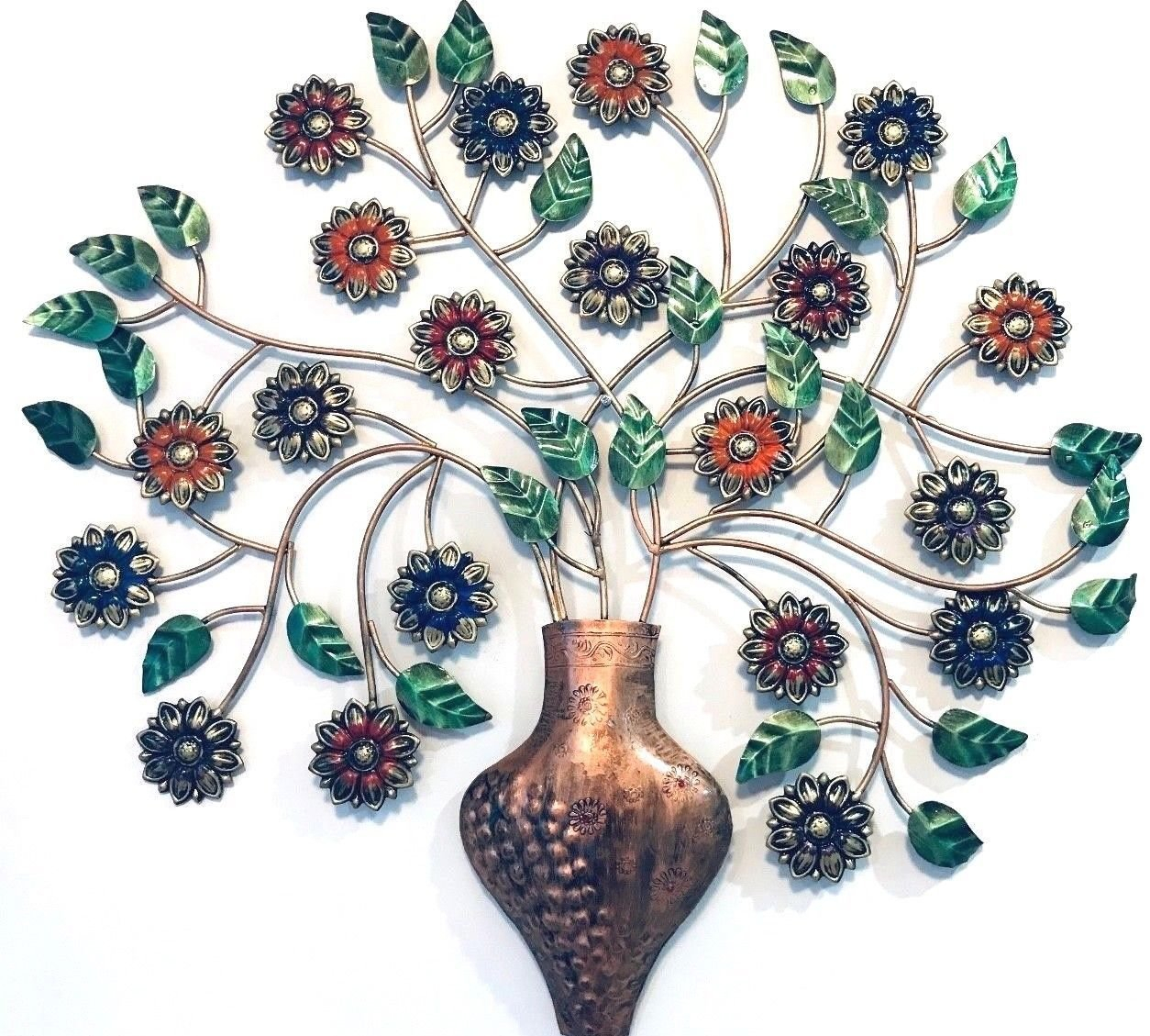 Well Known Tree Wall Decor Throughout Metal Wall Decor Tree Wall Hanging Sculpture Big 76 Cm (Gallery 19 of 20)
