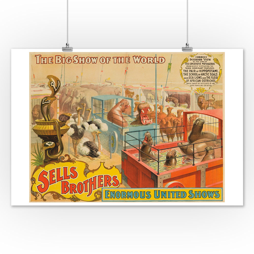 Well Known Wall Decor By World Menagerie Intended For Sells Brothers – Five Continent Menagerie Vintage Poster Usa C (View 16 of 20)