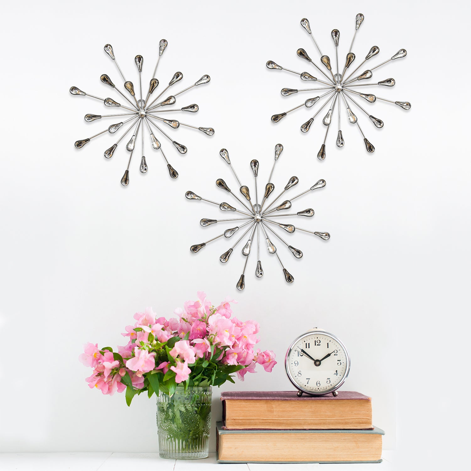 Well Liked 2 Piece Starburst Wall Decor Sets Intended For Shop Carson Carrington Arsta 'acrylic Burst' Wall Decor (Set Of  (View 18 of 20)