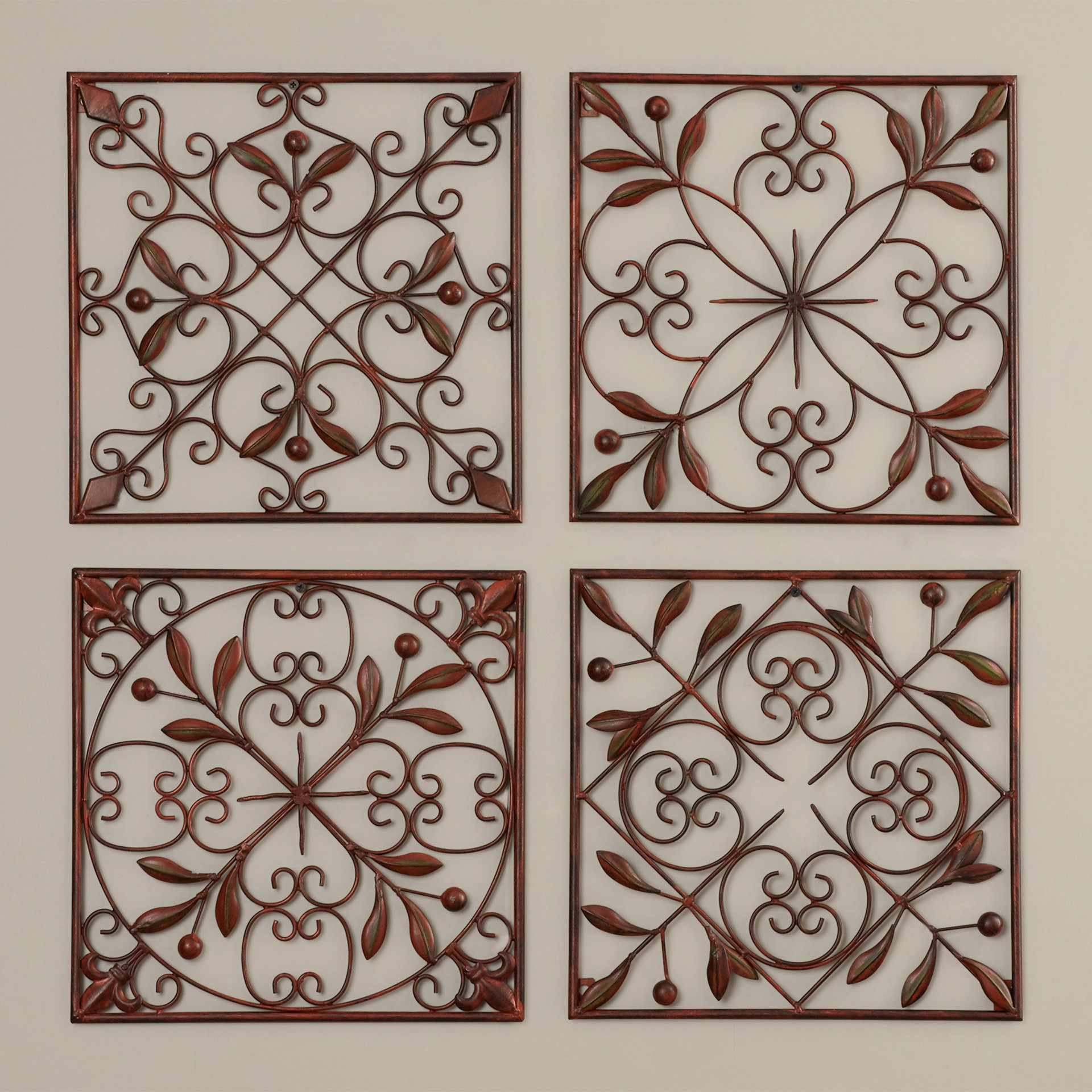Well Liked 4 Piece Metal Wall Plaque Decor Sets For Charlton Home 4 Piece Wall Décor Set (View 5 of 20)
