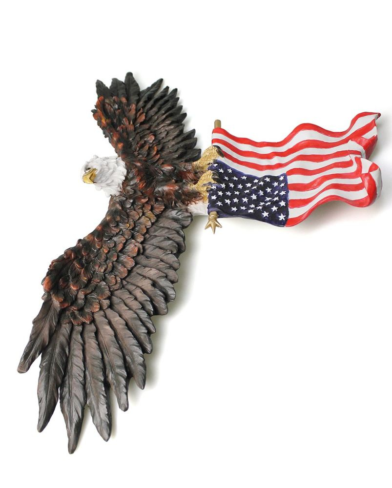 Well Liked American Pride 3D Wall Decor Pertaining To Shop For 3D American Eagle Wall Sculptures, Hanging Mount Art Wall (Gallery 4 of 20)