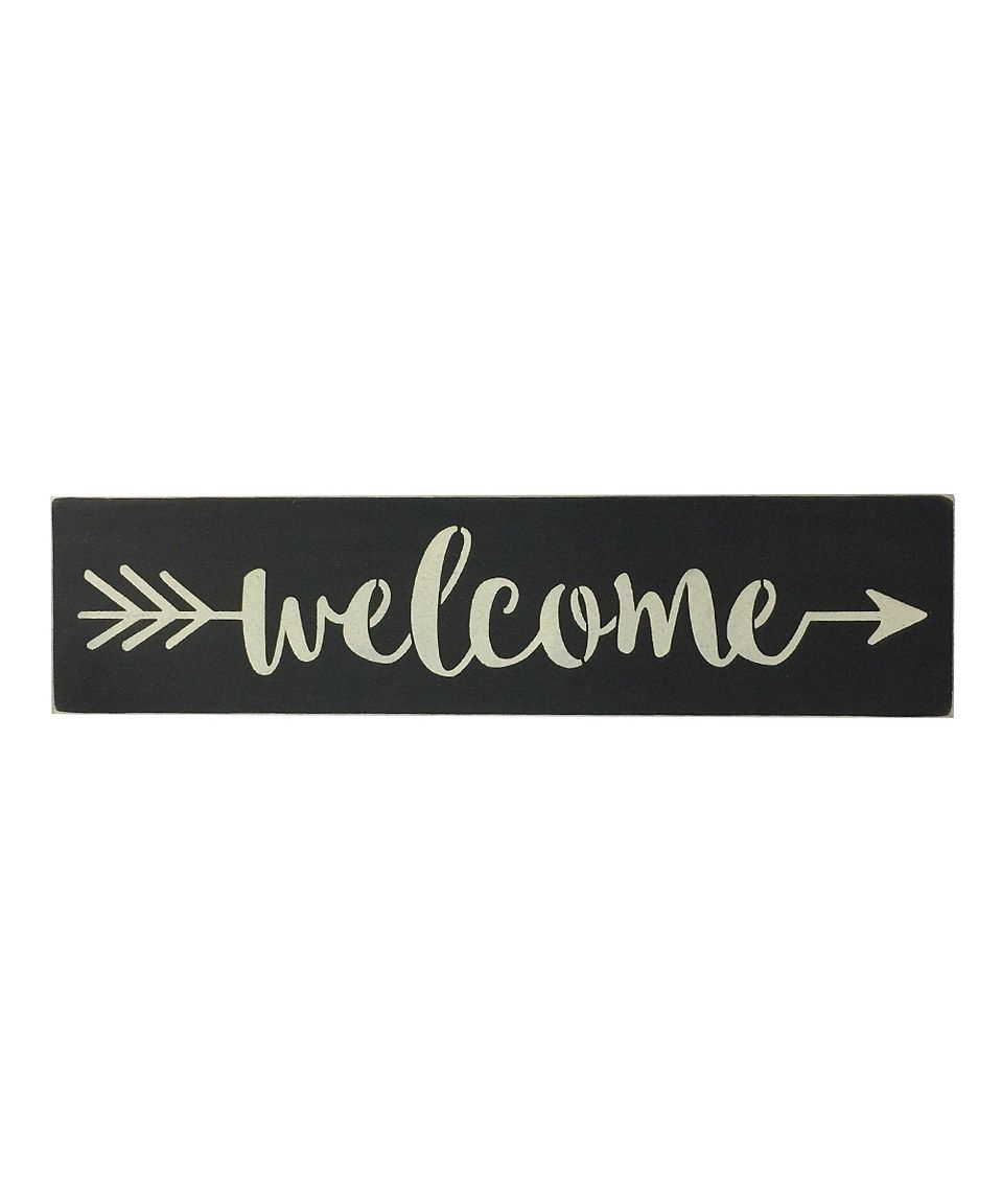 "Well Liked Another Great Find On #zulily! 'welcome' Indoor/outdoor Wall Art Pertaining To In A Word ""welcome"" Wall Decor (View 10 of 20)"