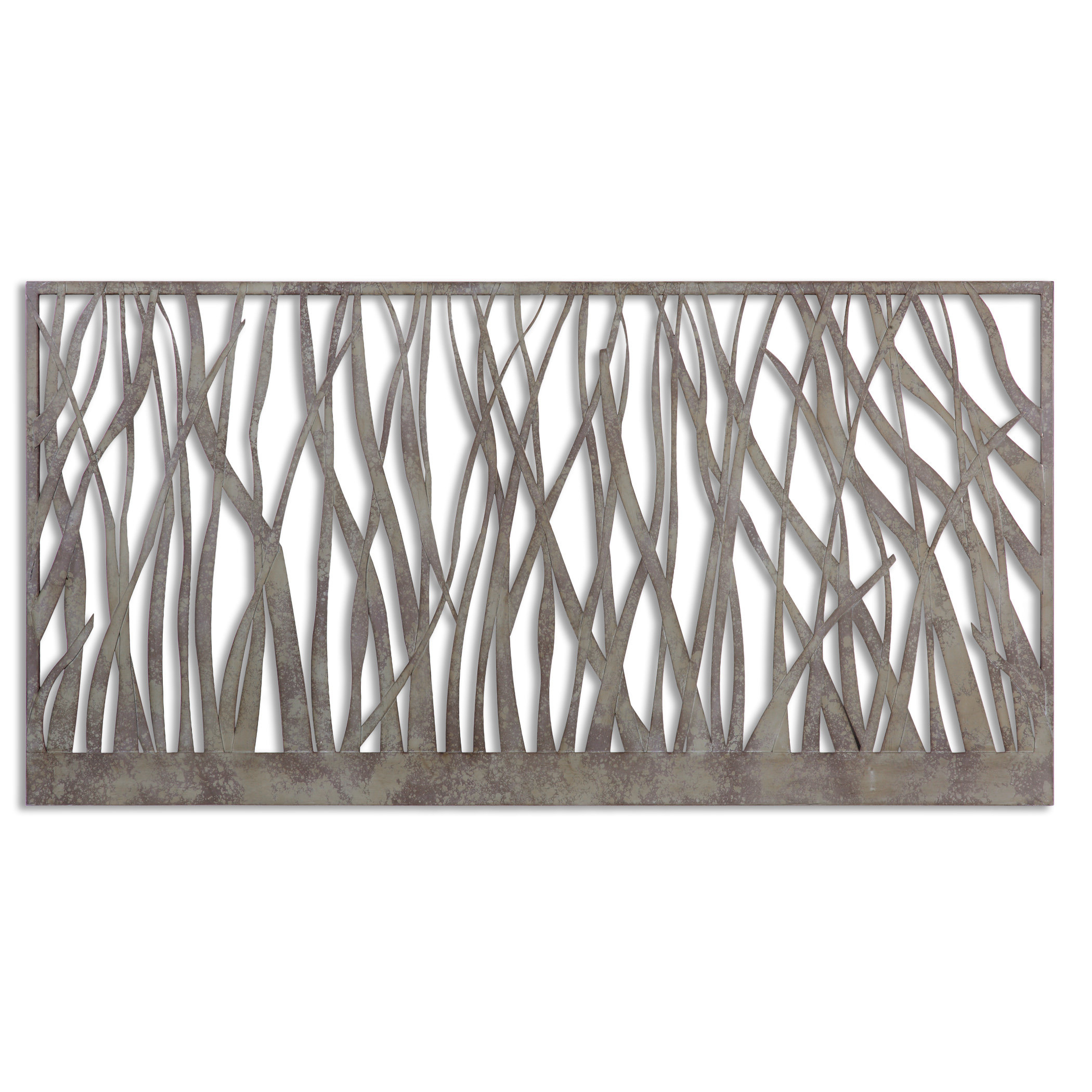 Well Liked Desford Leaf Wall Decor Regarding Olive/gray Metal Wall Decor & Reviews (View 19 of 20)