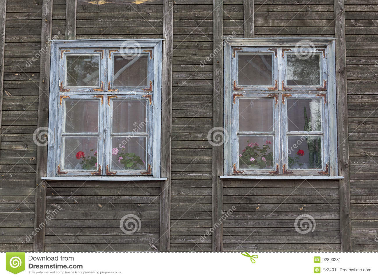 White Wooden Window Frame. Stock Image (View 16 of 20)