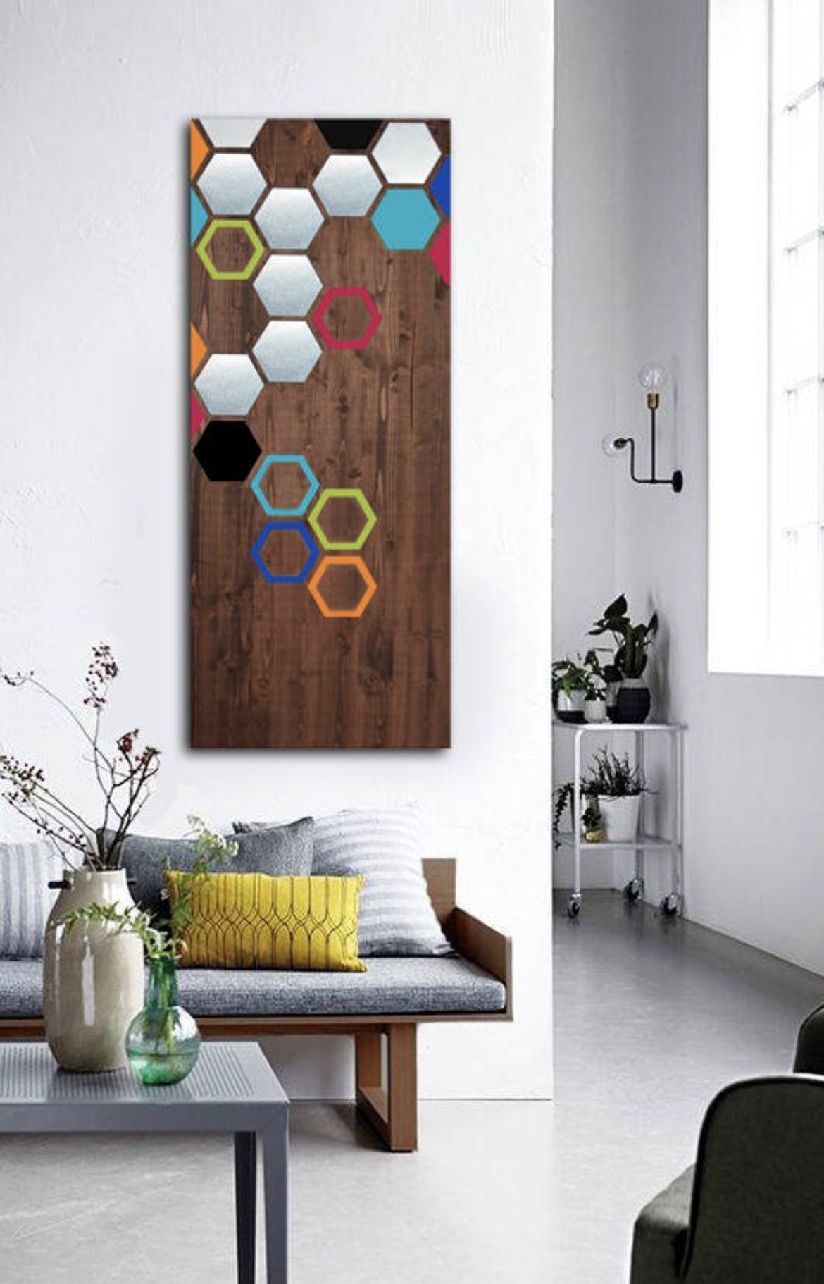 Widely Used Contemporary Geometric Wall Decor Inside Wood Wall Art, Metal Wall Art, Modern Art Painting, Geometric Art (View 6 of 20)