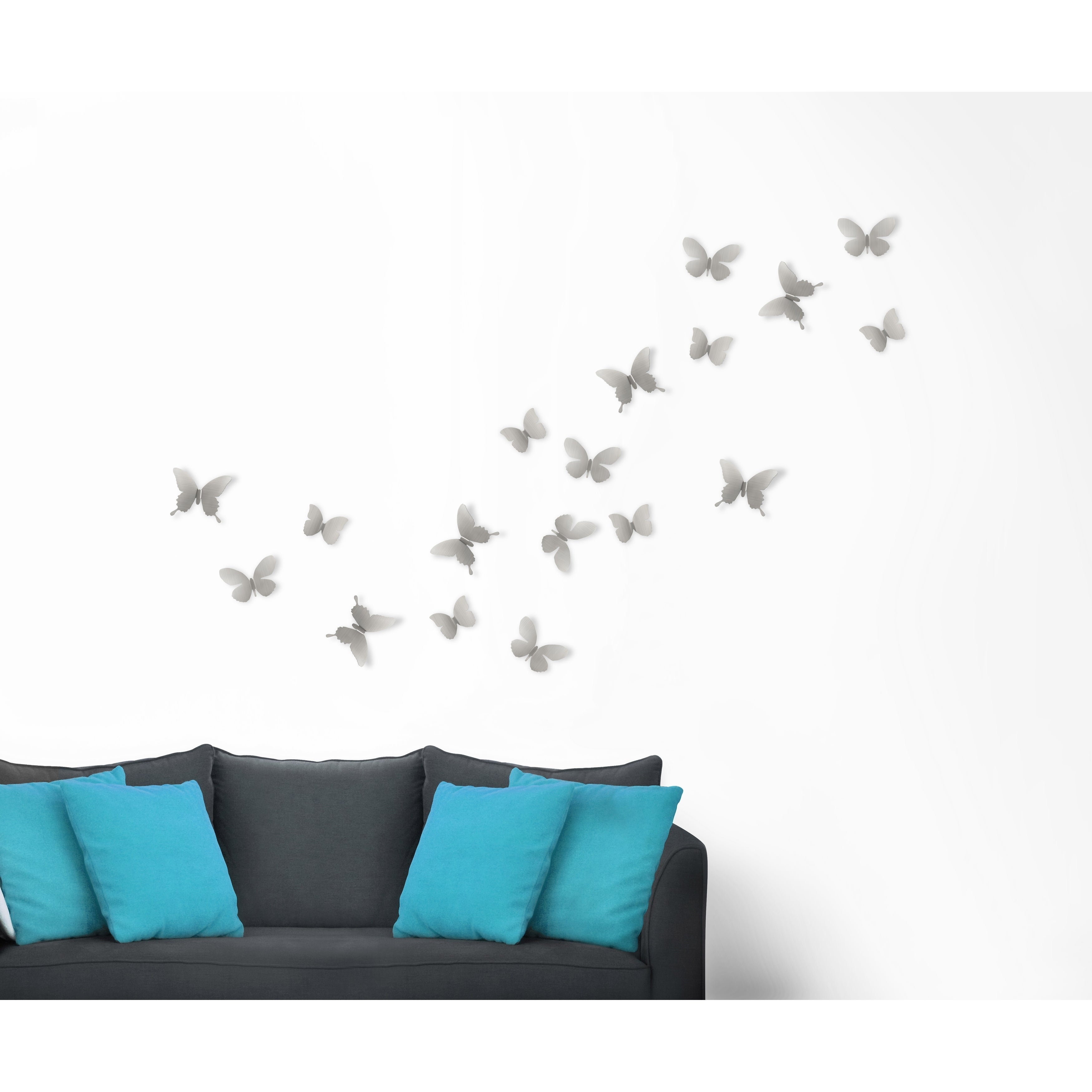 Widely Used Mariposa 9 Piece Wall Decor For Shop Umbra Mariposa Metal Wall Decor (Set Of 9) – Free Shipping On (Gallery 5 of 20)