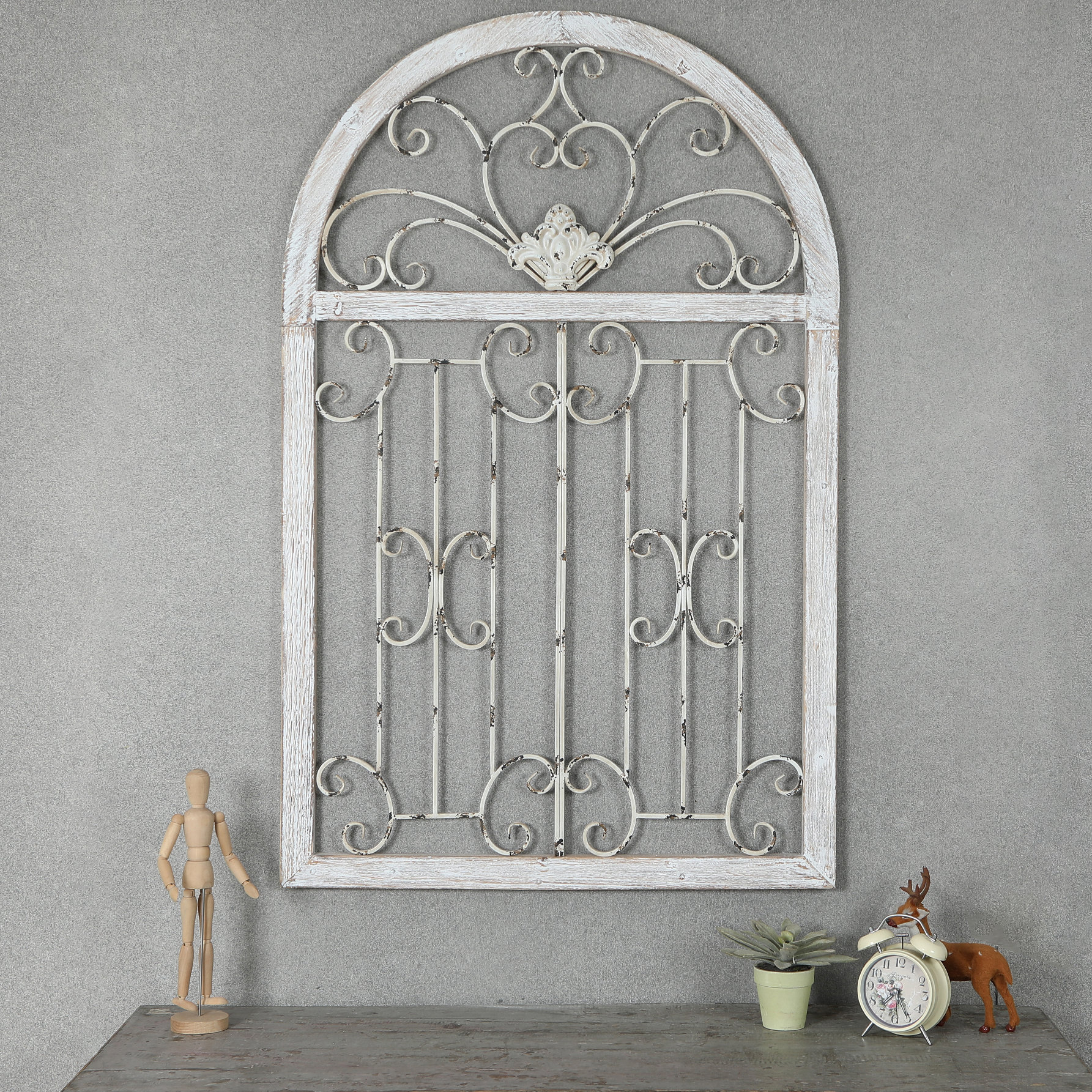 Widely Used Ophelia & Co. Metal Window Scroll Wall Décor & Reviews (Gallery 3 of 20)