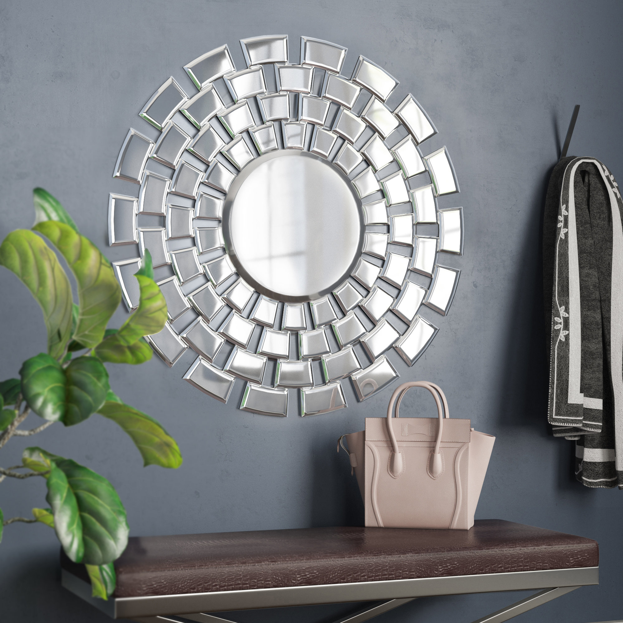 Widely Used Pennsburg Rectangle Wall Mirror For Wade Logan Pennsburg Round Accent Wall Mirror & Reviews (View 19 of 20)