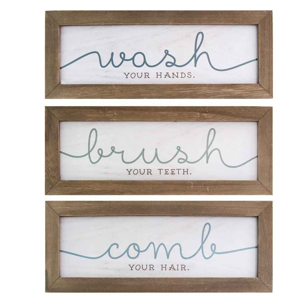 Featured Photo of 3 Piece Wash, Brush, Comb Wall Decor Sets (Set Of 3)