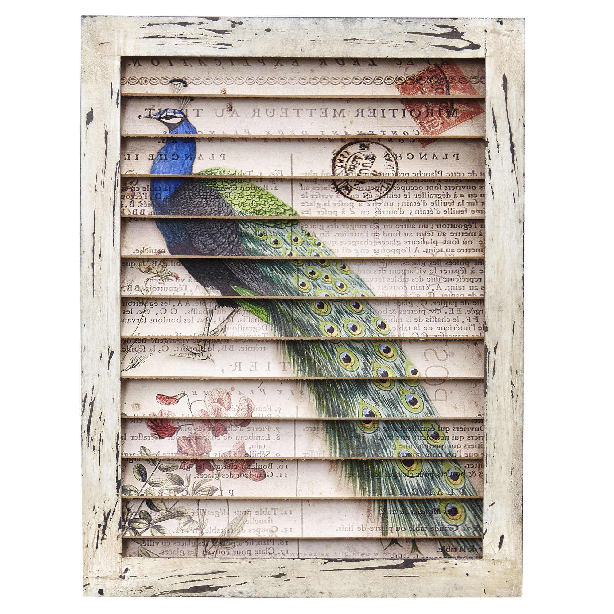 Widely Used Shutter Window Hanging Wall Decor With Regard To Shop Nearly Natural Peacock Wood Metal Window Shutter Wall Decor (View 20 of 20)