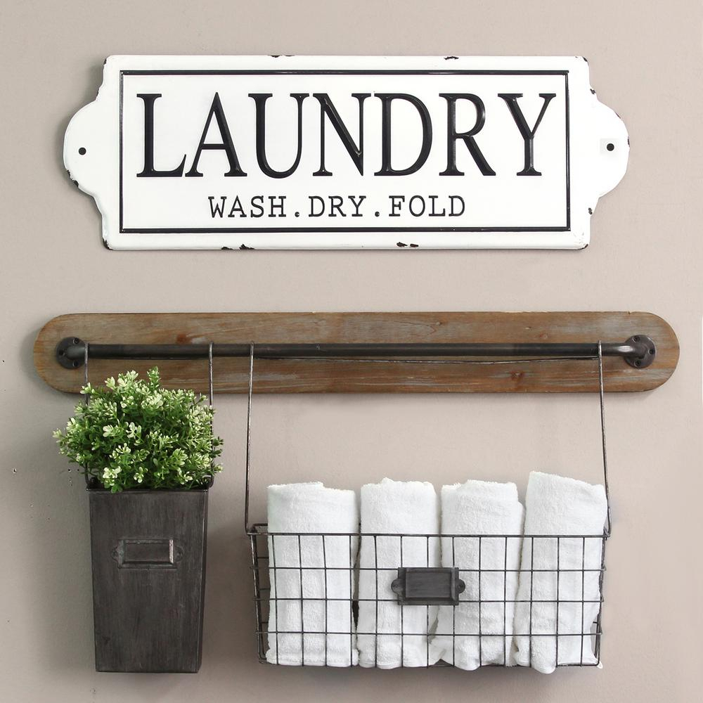 Widely Used Stratton Home Decor Metal Laundry Wall Decor S15047 – The Home Depot Inside Metal Laundry Room Wall Decor (Gallery 8 of 20)