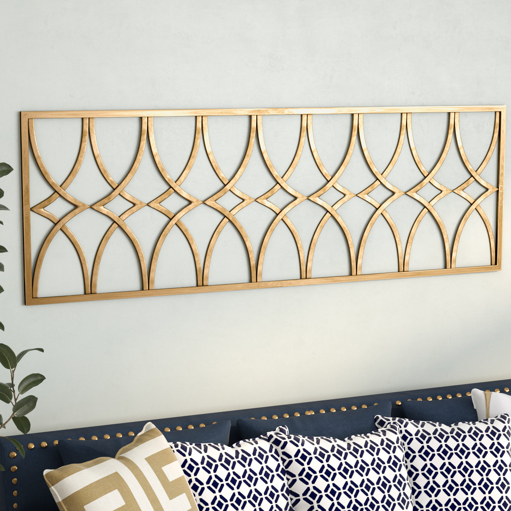 Willa Arlo Interiors Gold Metal Wall Decor (Gallery 7 of 20)