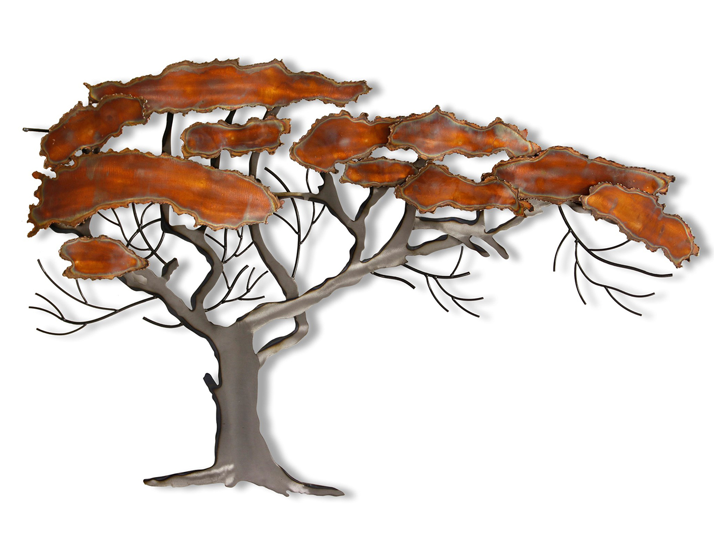 "Windswept Tree Wall Decor In Well Known Copper And Metal Tree Wall Art 27""w X 43""h (Gallery 7 of 20)"