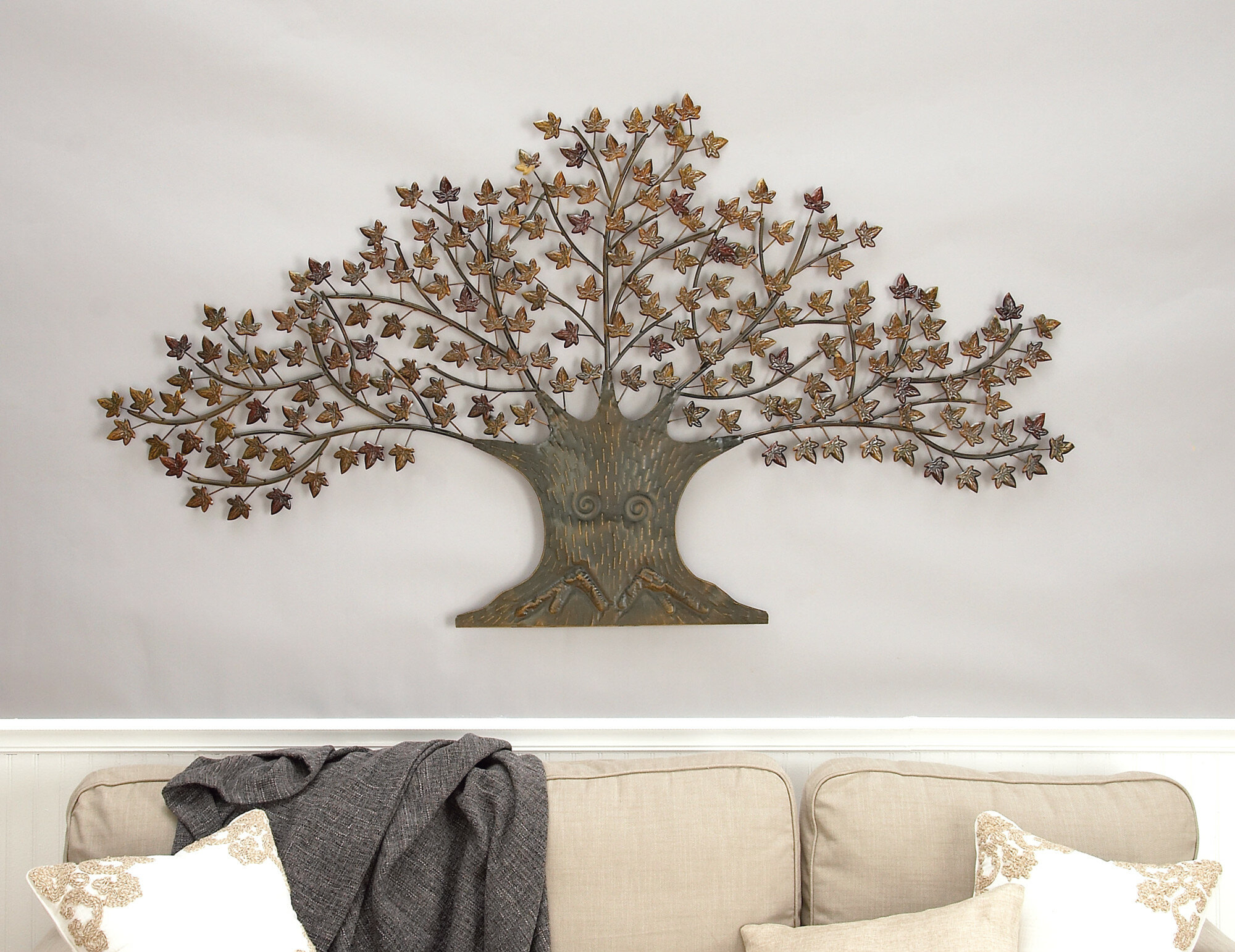 Windswept Tree Wall Decor With Regard To Well Known Cole & Grey Metal Tree Wall Decor & Reviews (View 18 of 20)