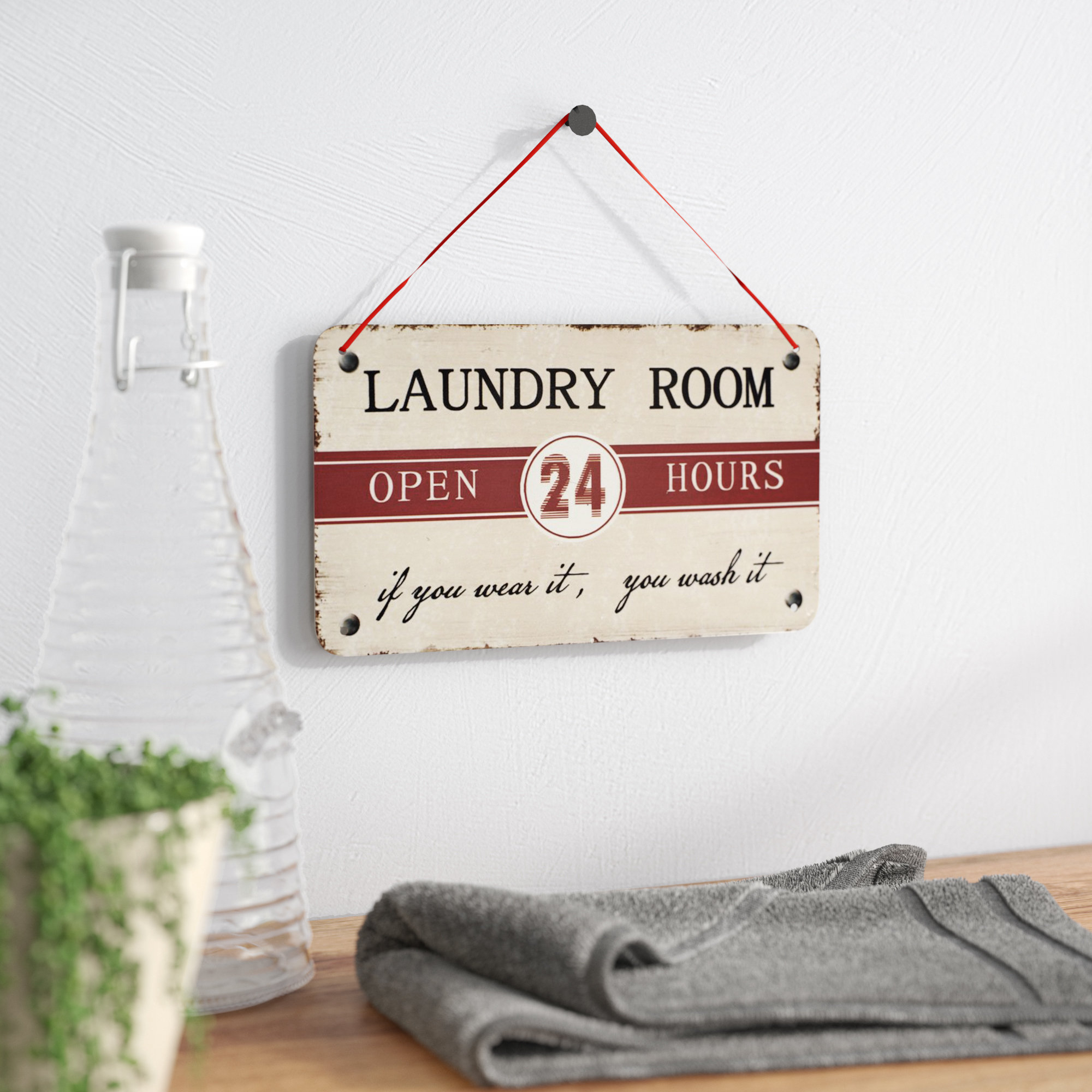 "Winston Porter ""laundry Room"" Antique Wisdom Sign Wall Décor With Regard To 2019 Metal Laundry Room Wall Decor (Gallery 6 of 20)"