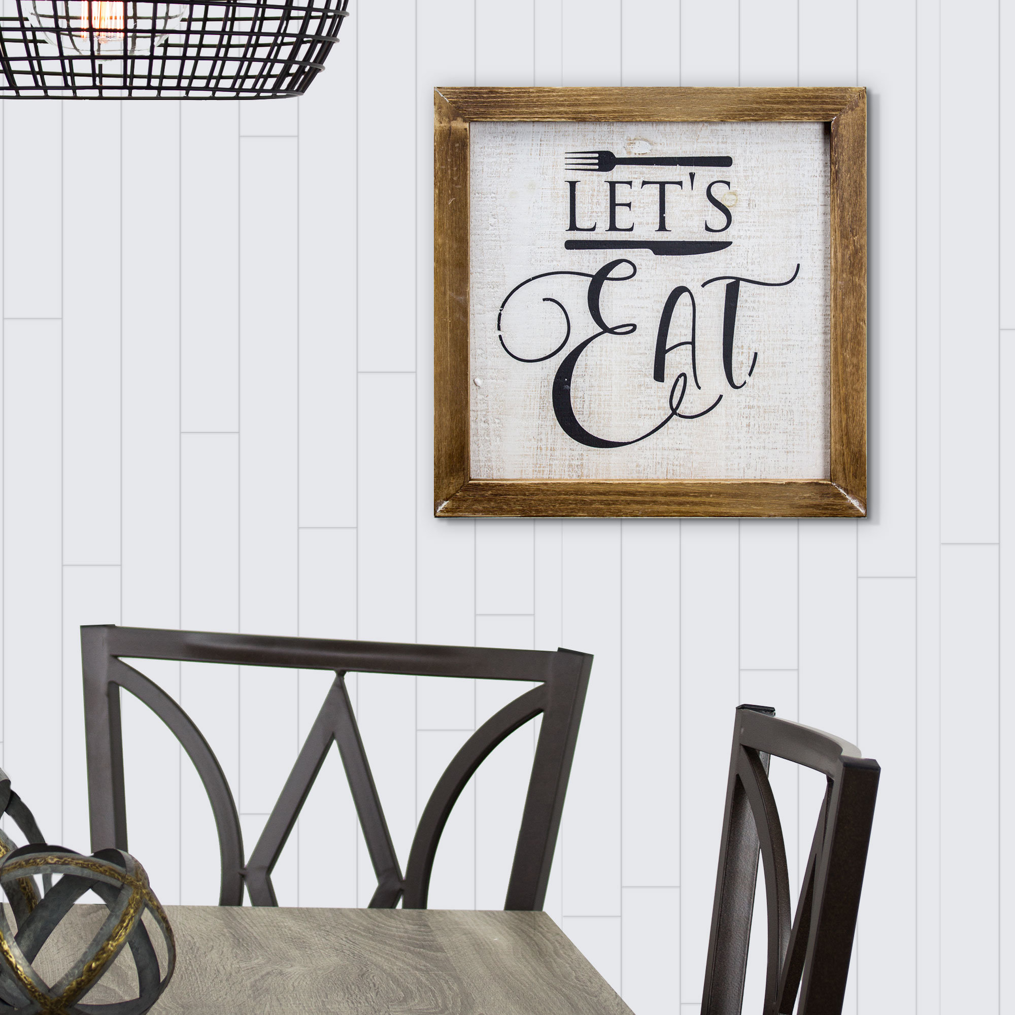 Winston Porter 'let's Eat' Whitewashed Wood Sign Farmhouse Wall Within Most Recently Released Eat Rustic Farmhouse Wood Wall Decor (Gallery 7 of 20)
