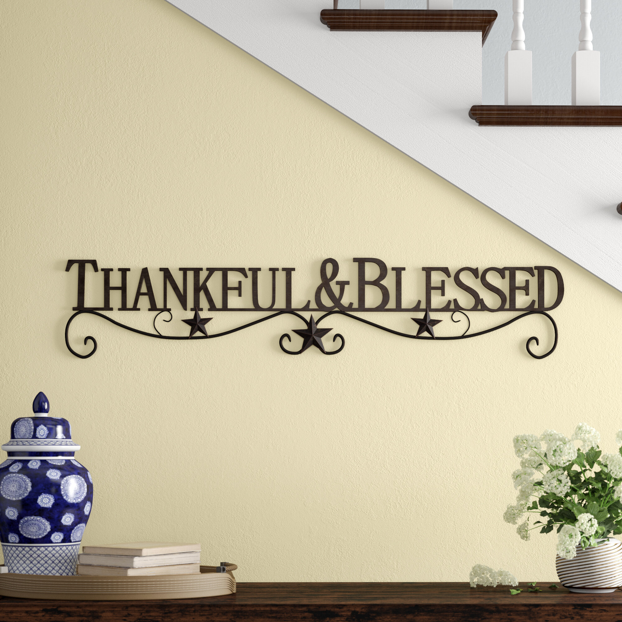 Winston Porter Thankful And Blessed Metal Wall Décor & Reviews (View 11 of 20)