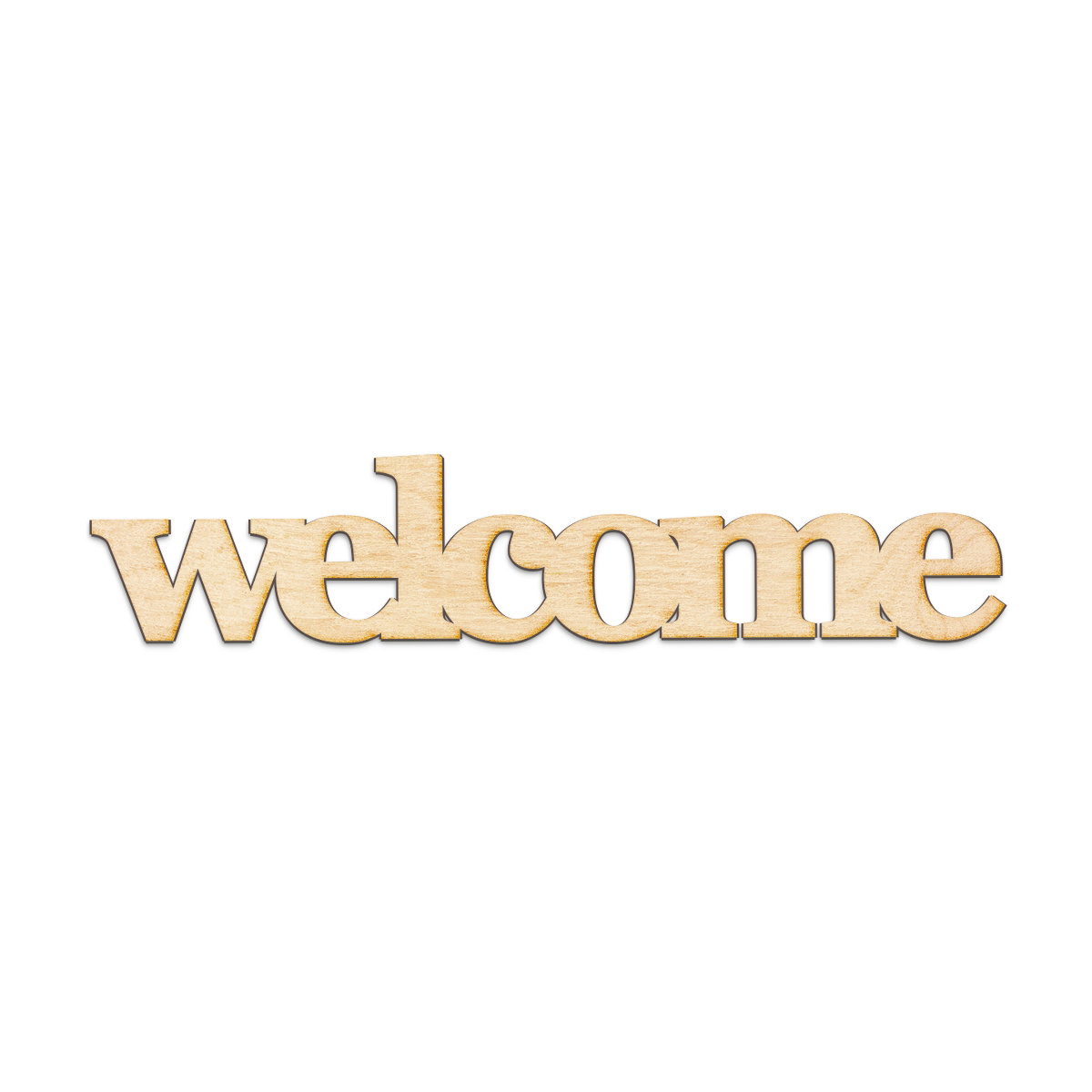 "Winston Porter Welcome Serif Block Font Wood Sign Home Gallery Wall Intended For Most Up To Date In A Word ""welcome"" Wall Decor (Gallery 9 of 20)"