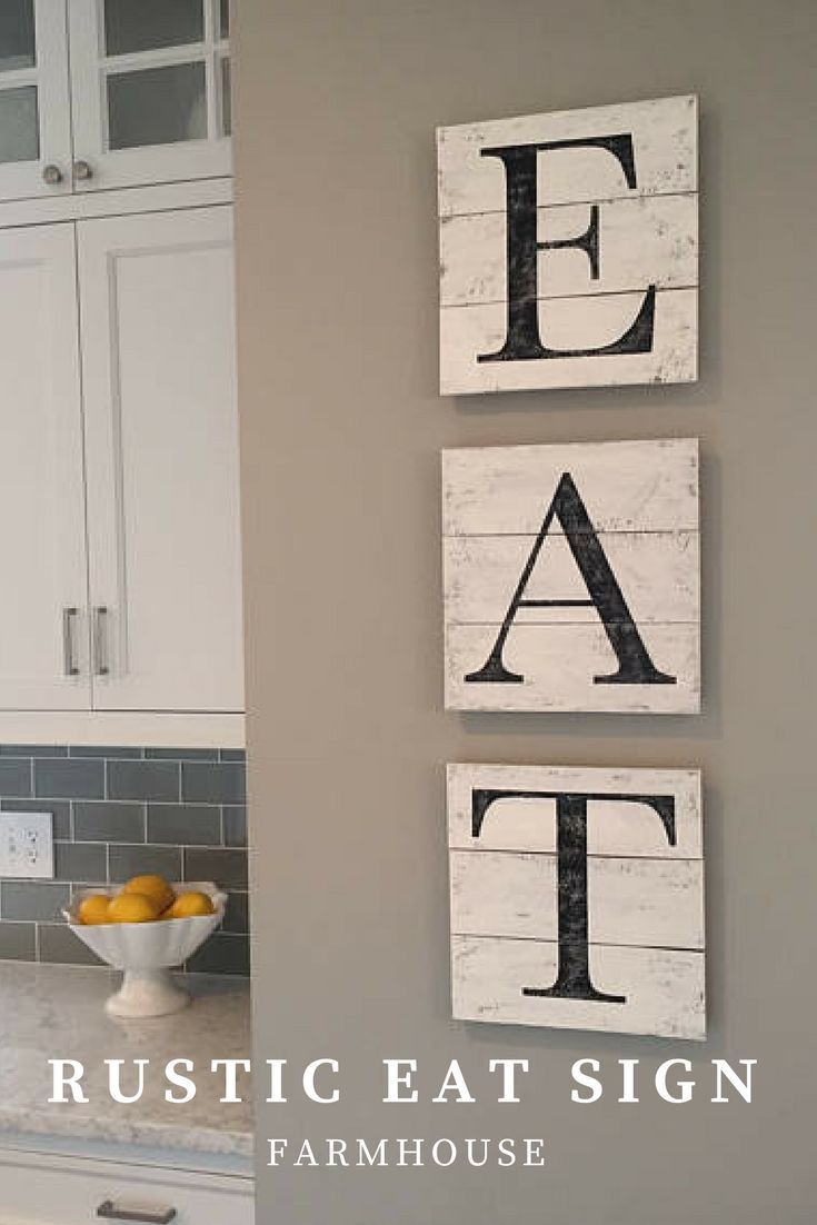 Wooden Rustic Eat Sign For Farmhouse Decor In The Kitchen #affiliate With Most Recent Eat Rustic Farmhouse Wood Wall Decor (View 3 of 20)