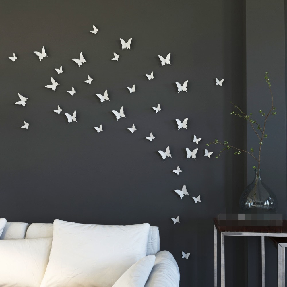 [%Ysk Shop] Mariposa In Gossip Girl 3D White Butterfly Wall Stickers For Well Known Mariposa 9 Piece Wall Decor Mariposa 9 Piece Wall Decor Within Best And Newest Ysk Shop] Mariposa In Gossip Girl 3D White Butterfly Wall Stickers Current Mariposa 9 Piece Wall Decor Intended For Ysk Shop] Mariposa In Gossip Girl 3D White Butterfly Wall Stickers Most Up To Date Ysk Shop] Mariposa In Gossip Girl 3D White Butterfly Wall Stickers Pertaining To Mariposa 9 Piece Wall Decor%] (View 10 of 20)