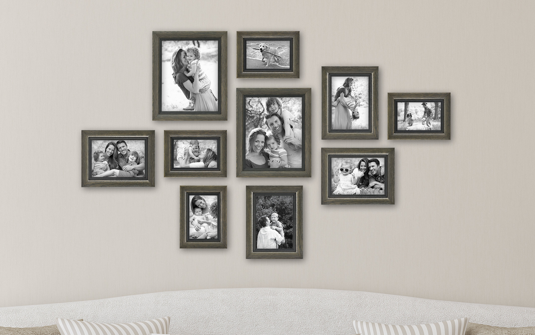 10 Piece Regency Picture Frame Set & Reviews (View 1 of 20)