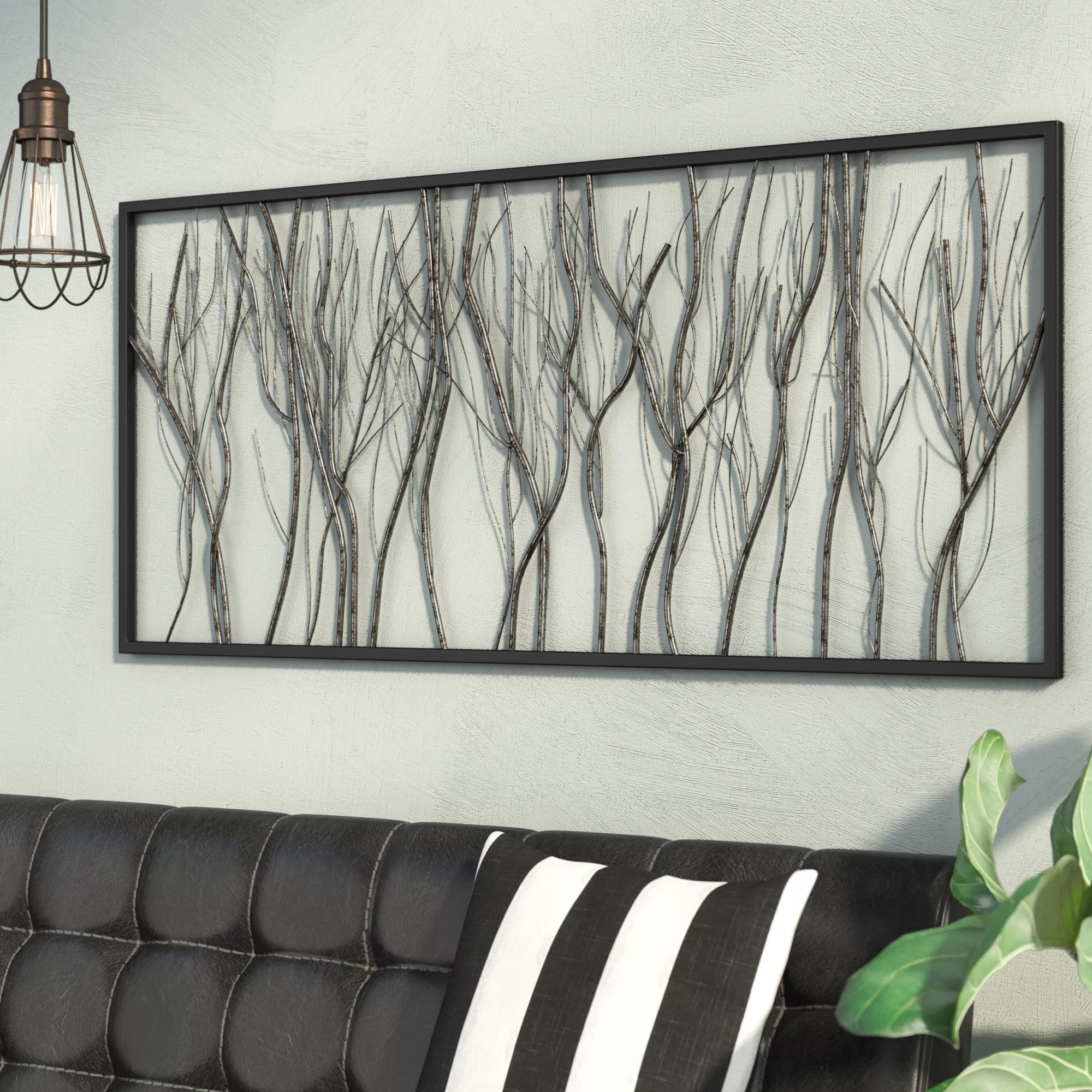 17 Stories Natural Twigs And Branches Iron Wall Décor & Reviews Pertaining To 2019 Windswept Tree Wall Decor By World Menagerie (View 1 of 20)