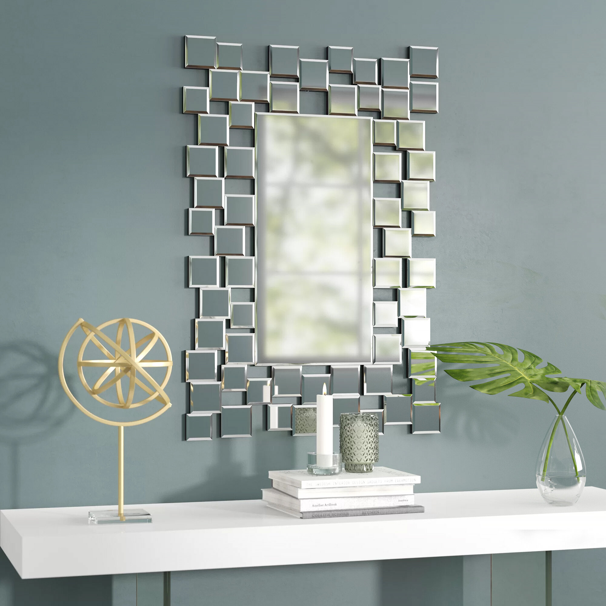 2019 Pennsburg Rectangle Wall Mirror By Wade Logan pertaining to Brayden Studio Modern & Contemporary Accent Wall Mirror