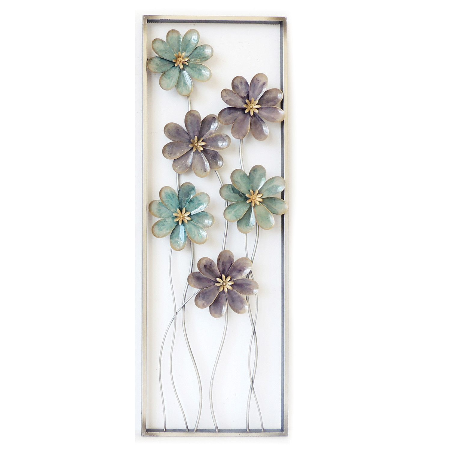 2020 6 Flowers On Stem Wall Decor (View 1 of 20)