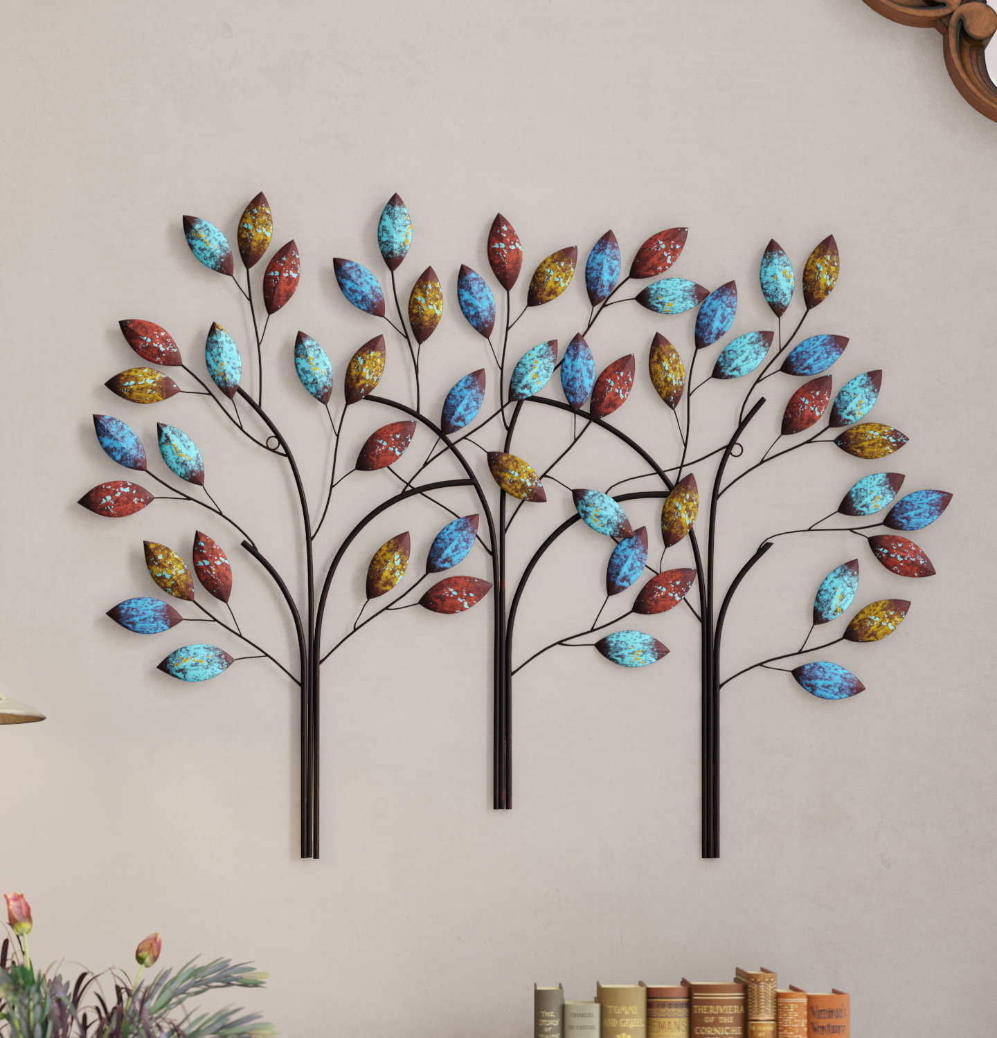 2020 Contemporary Iron Leaves Wall Decor By Winston Porter Pertaining To Winston Porter Tree Branch Wall Decor & Reviews (View 4 of 20)