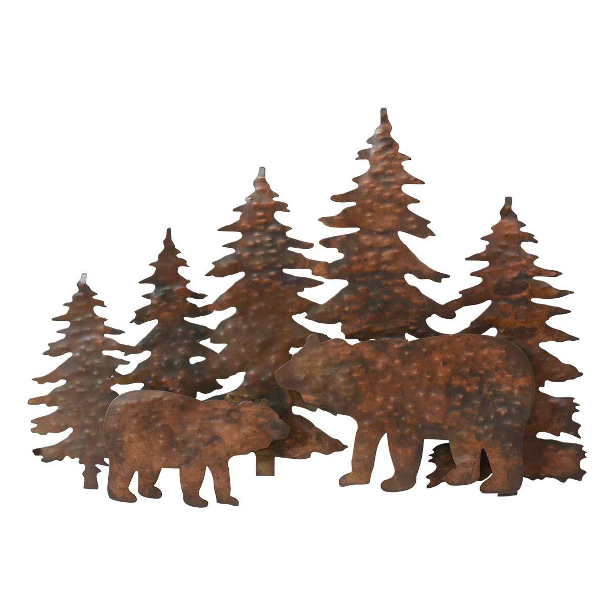 2020 Copper Mountain Bear Metal Wall Art In Brown Metal Tribal Arrow Wall Decor (View 10 of 20)