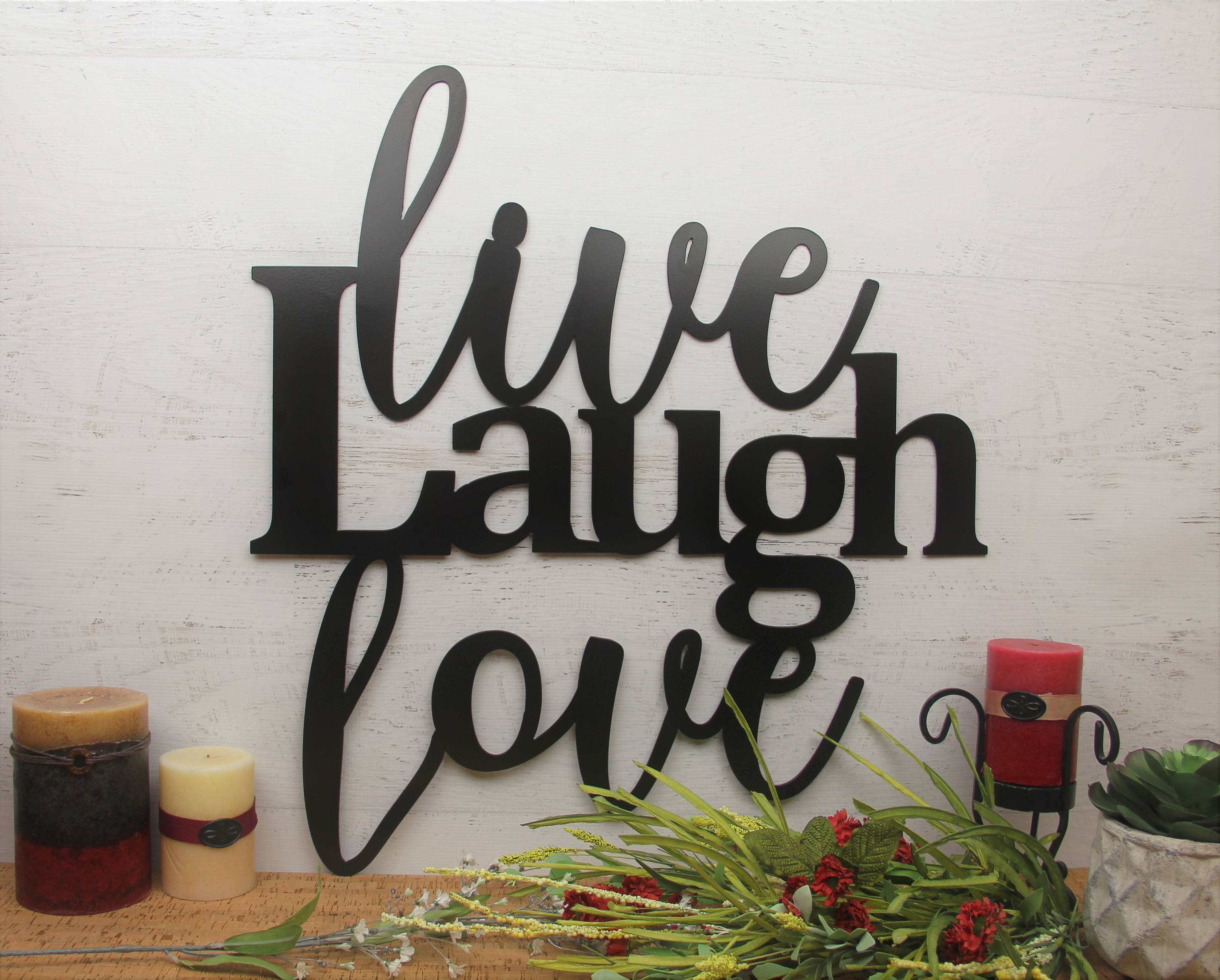 2020 Live Laugh Love Wall Art, Metal Wall Sign For Live, Laugh, Love Antique Copper Wall Decor (View 15 of 20)