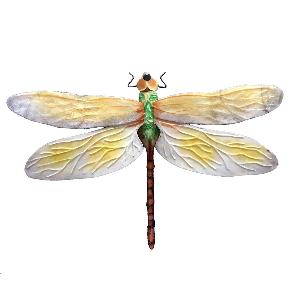 2020 Shop Handmade White And Green Dragonfly Wall Decor – On Sale – Free Intended For Dragonfly Wall Decor (View 1 of 20)