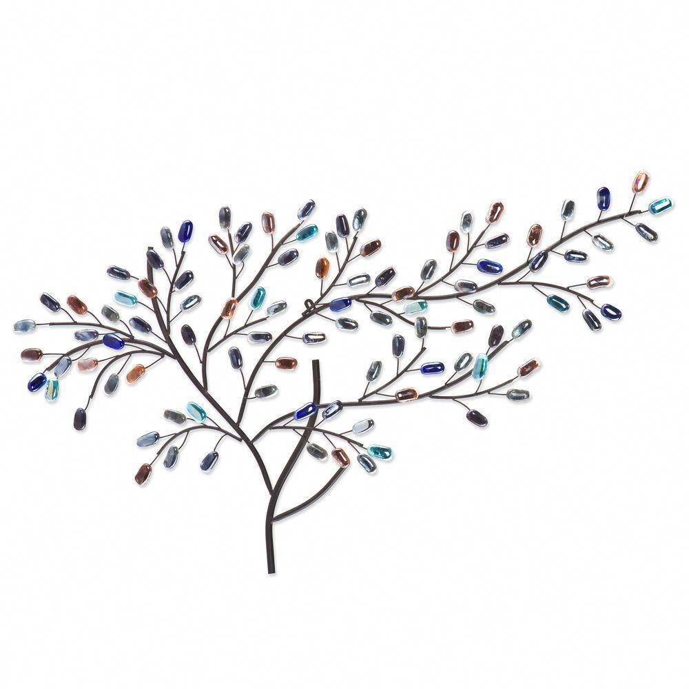 2020 Southern Enterprises Herzer Metal/glass Tree Decorative Wall Pertaining To Windswept Tree Wall Decor By World Menagerie (Gallery 20 of 20)