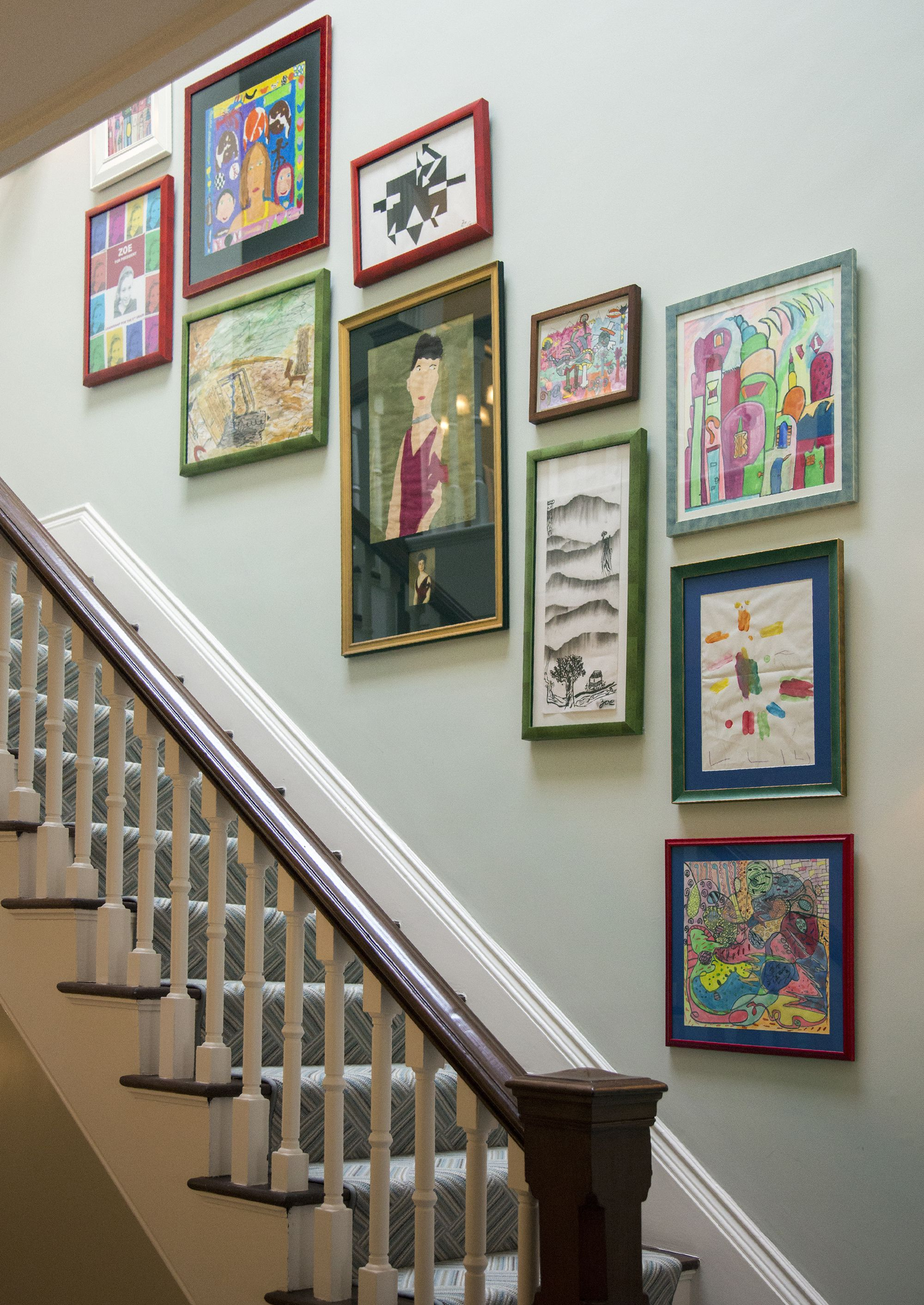 27 Stylish Staircase Decorating Ideas – How To Decorate Stairways With Regard To 2019 Landing Art Wall Decor (View 2 of 20)
