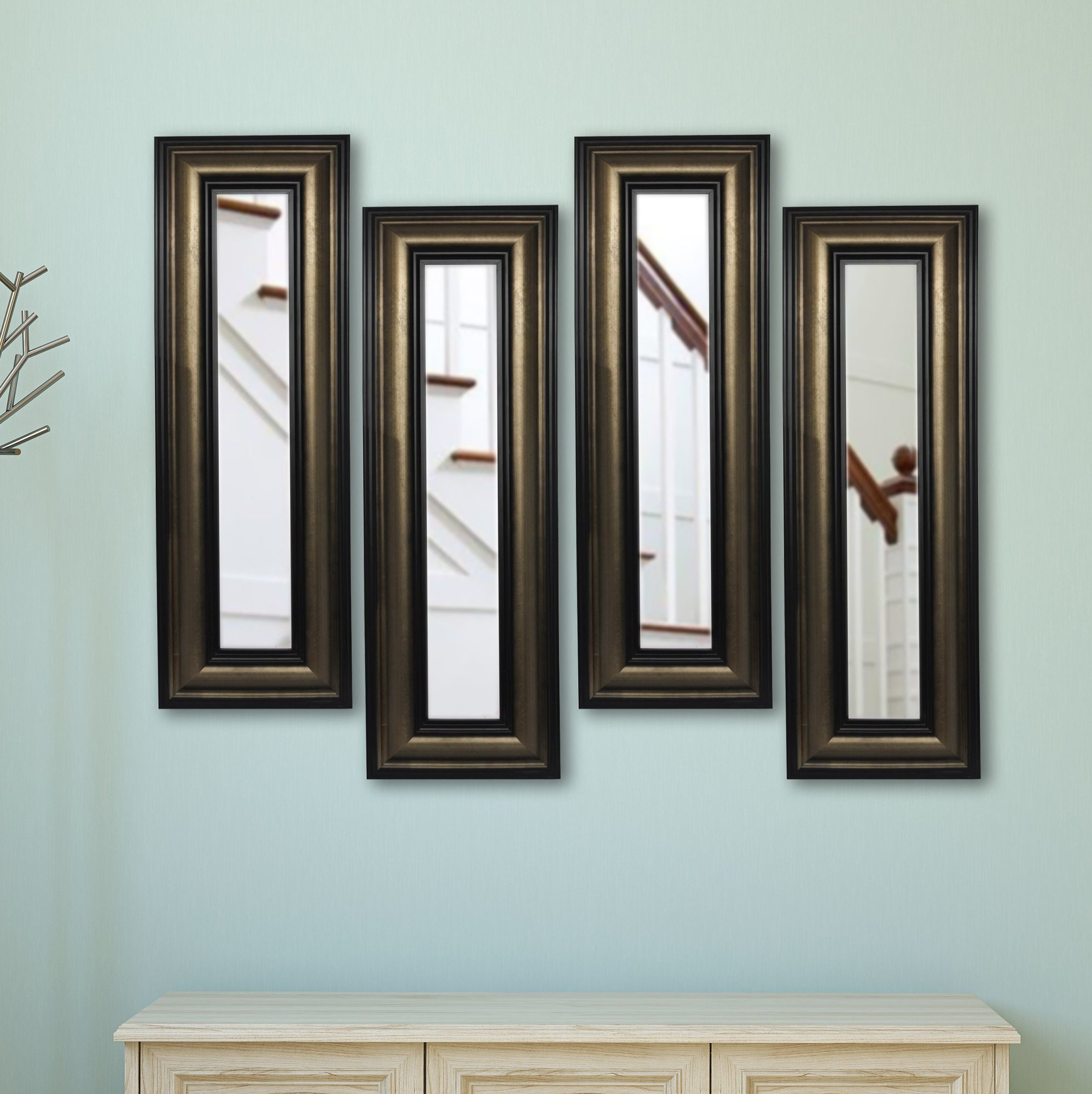 4 Piece Wall Decor Sets By Charlton Home In Most Popular Charlton Home 4 Piece Kincannon Stepped Antiqued Mirror Set Set Of 4 (Gallery 6 of 20)