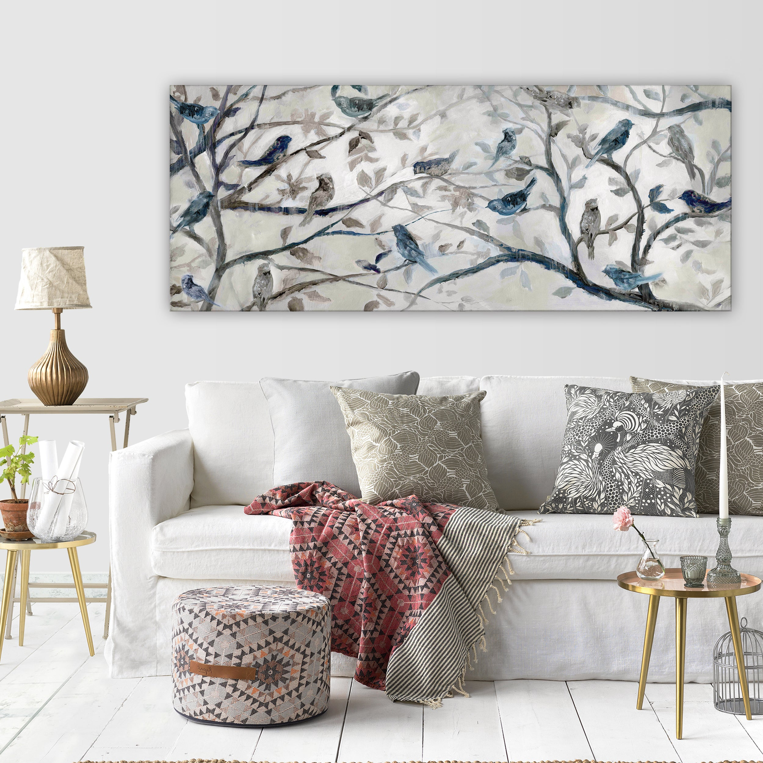 4 Piece Wall Decor Sets By Charlton Home Within Newest Shop Wexford Home 'morning Chorus' Gallery Wrapped Canvas Wall Art (View 20 of 20)