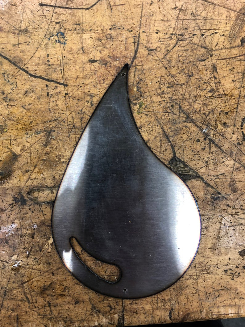 8 Plasma Cut Water Drop Metal Wall Decoration Recycled (View 2 of 20)