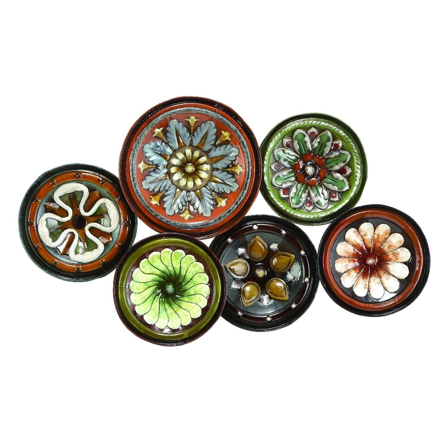 Awesome Scattered Tuscan Plates Metal Wall Decor (View 17 of 20)
