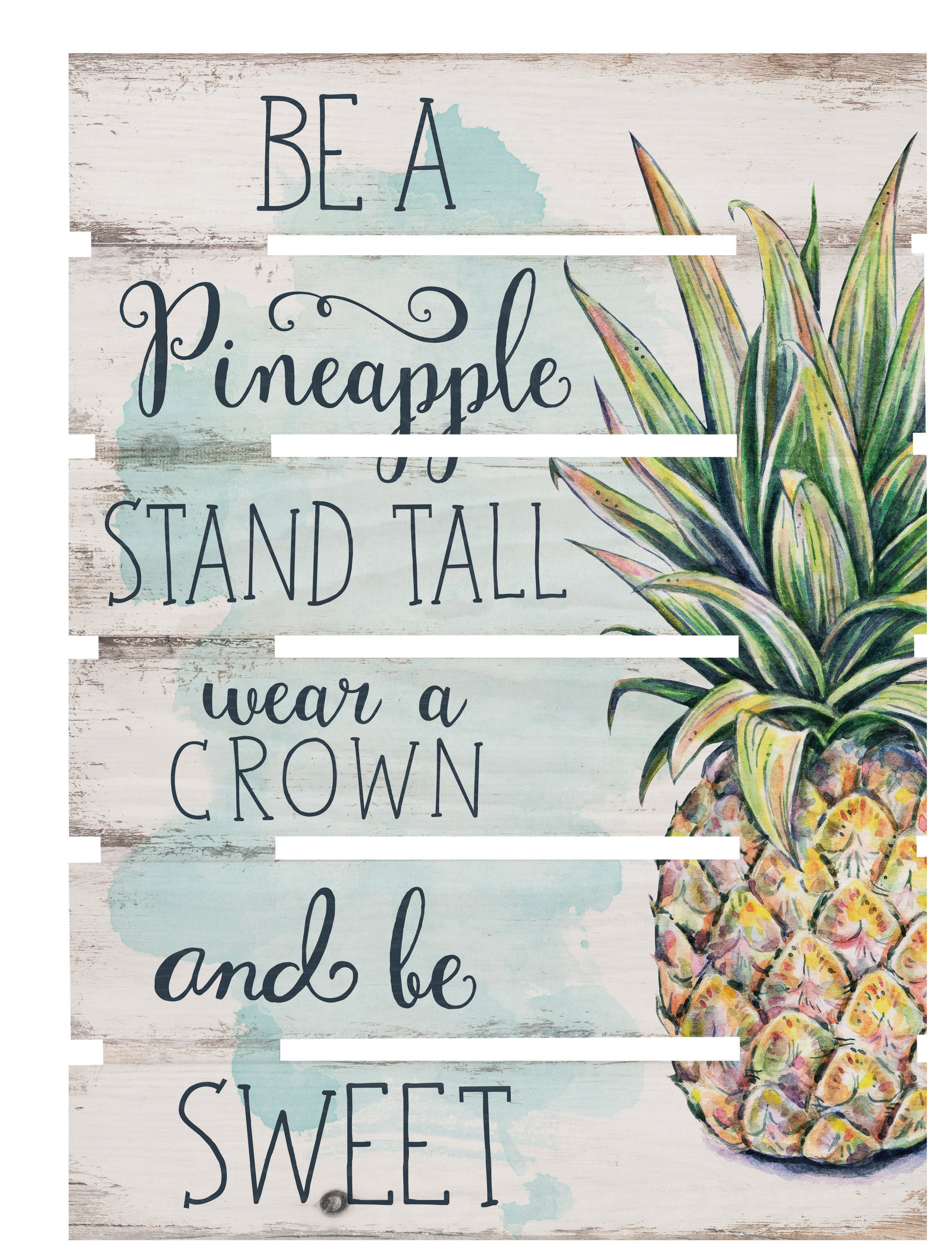 Bay Isle Home Skid Be A Pineapple Wall Décor & Reviews (View 1 of 20)