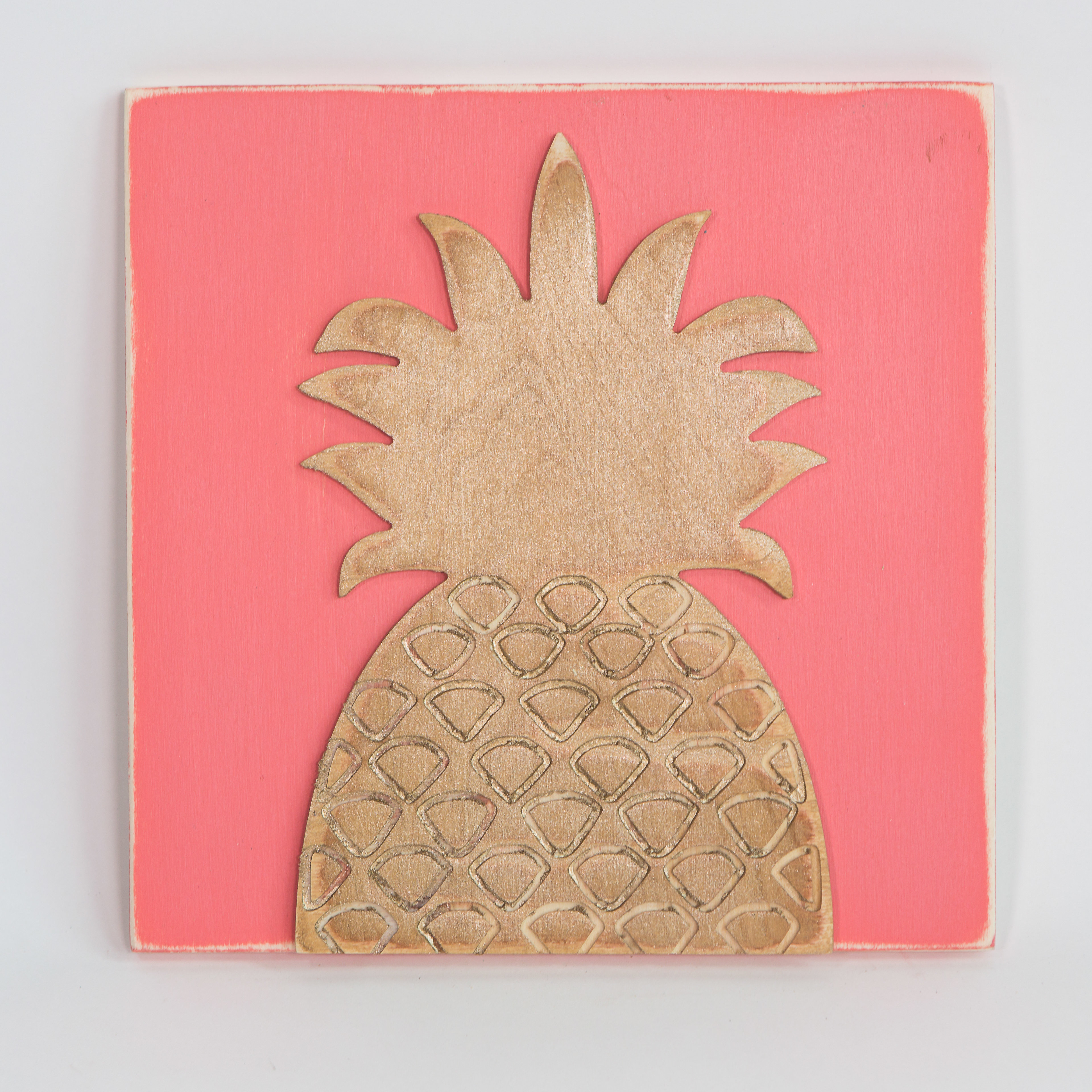 Bayou Breeze Engraved Pineapple Wall Décor (View 2 of 20)