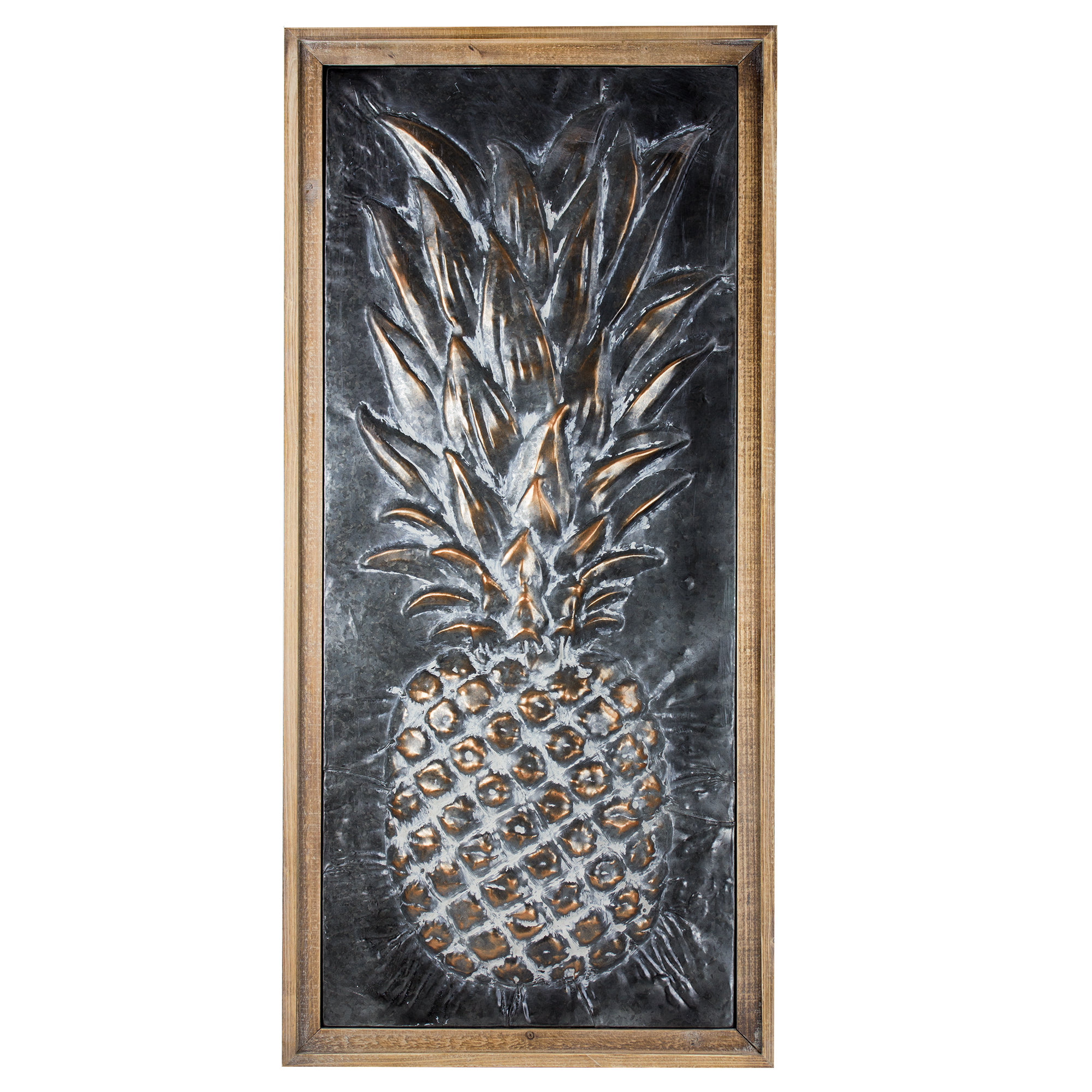 Bayou Breeze Metal Pineapple Wall Décor & Reviews (View 12 of 20)