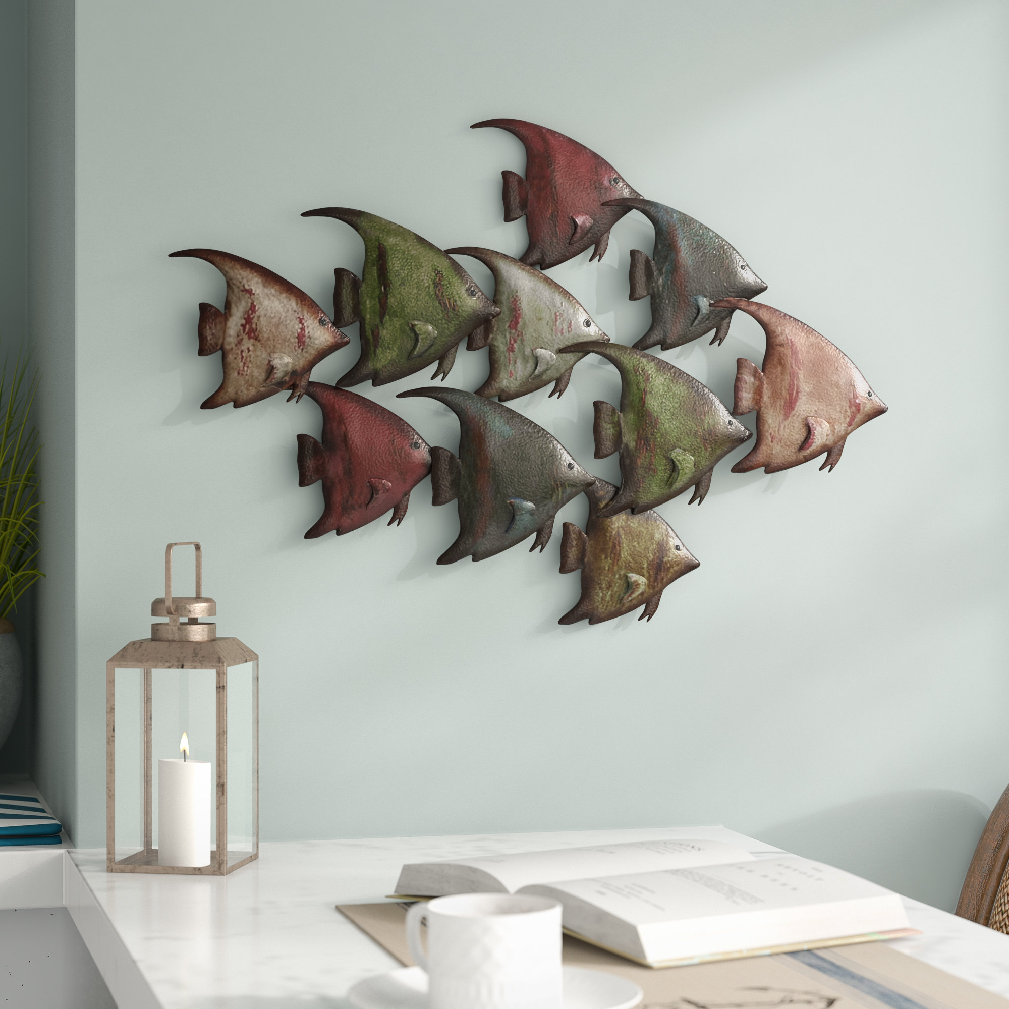 Featured Photo of Coastal Metal Fish Wall Decor