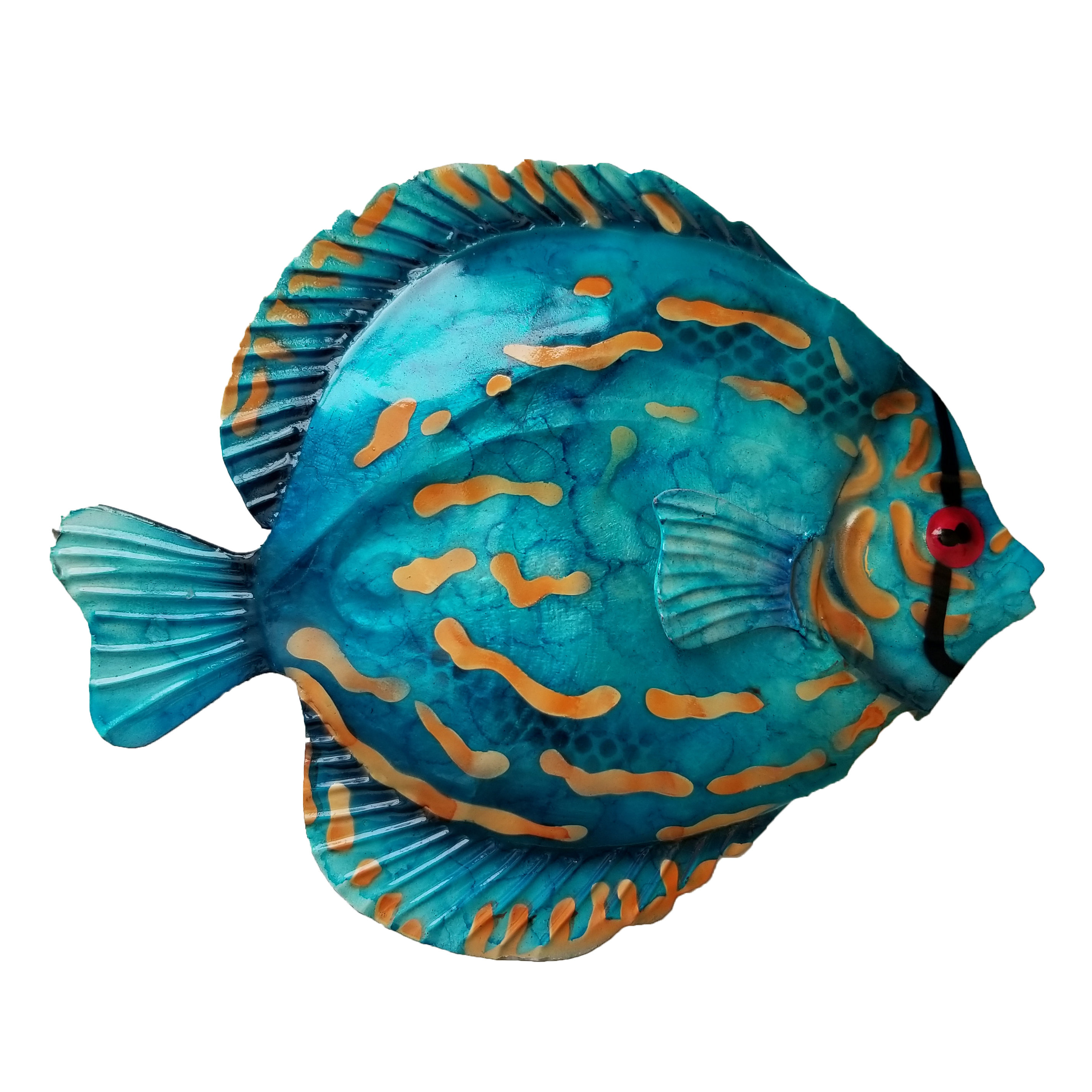 Best And Newest Highland Dunes Coastal Discus Fish Metal Wall Decor & Reviews (View 10 of 20)