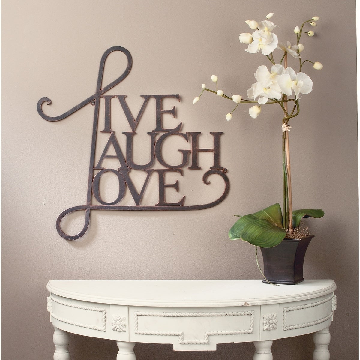 Best And Newest Live, Laugh, Love Wall Decor  Antique Copper / White Finish For Live, Laugh, Love Antique Copper Wall Decor (Gallery 2 of 20)