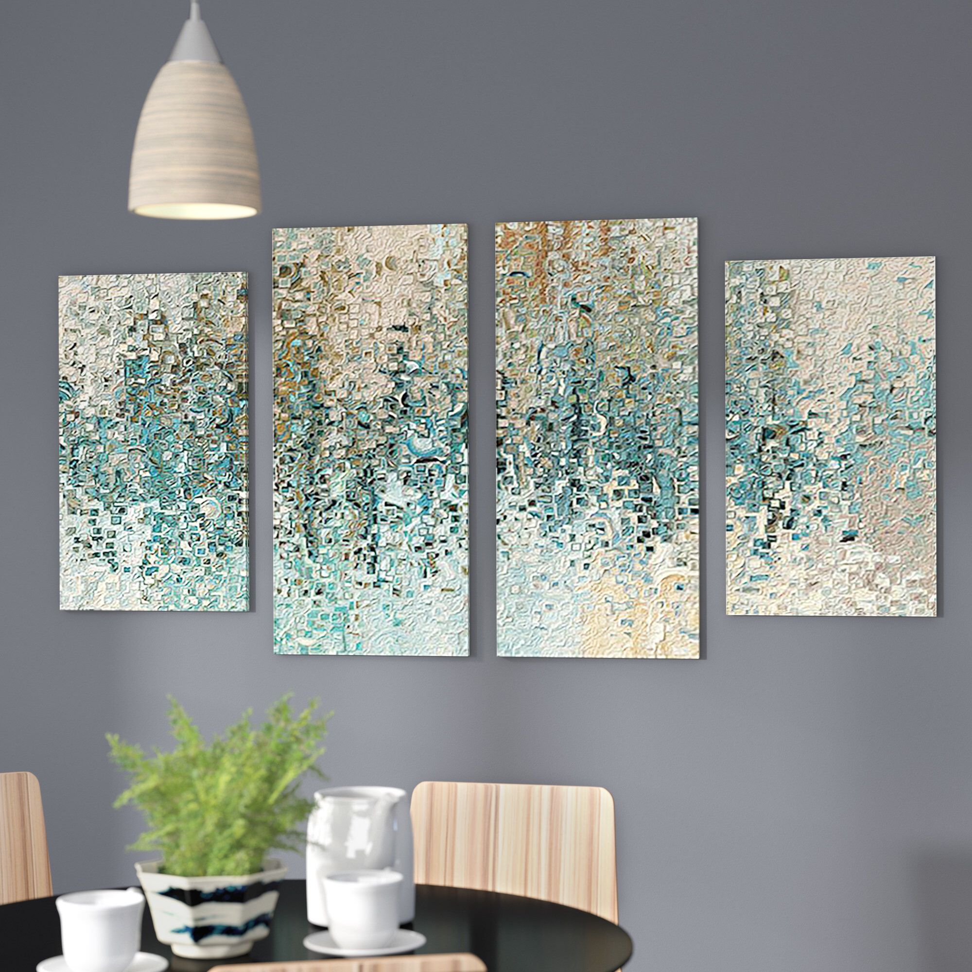 Best And Newest Wonderful World Wall Decor By Latitude Run For Revealed' 4 Piece Framed Gallery Wall Set On Canvas In  (View 3 of 20)