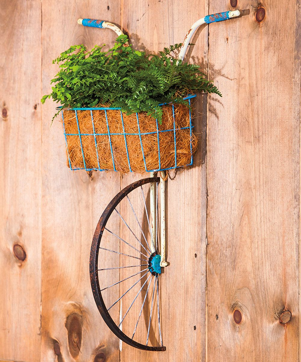Bike Wall Decor By August Grove For Most Recently Released Metal Bicycle With Basket Wall Décor $95 On #zulily #zulilyfinds (View 7 of 20)