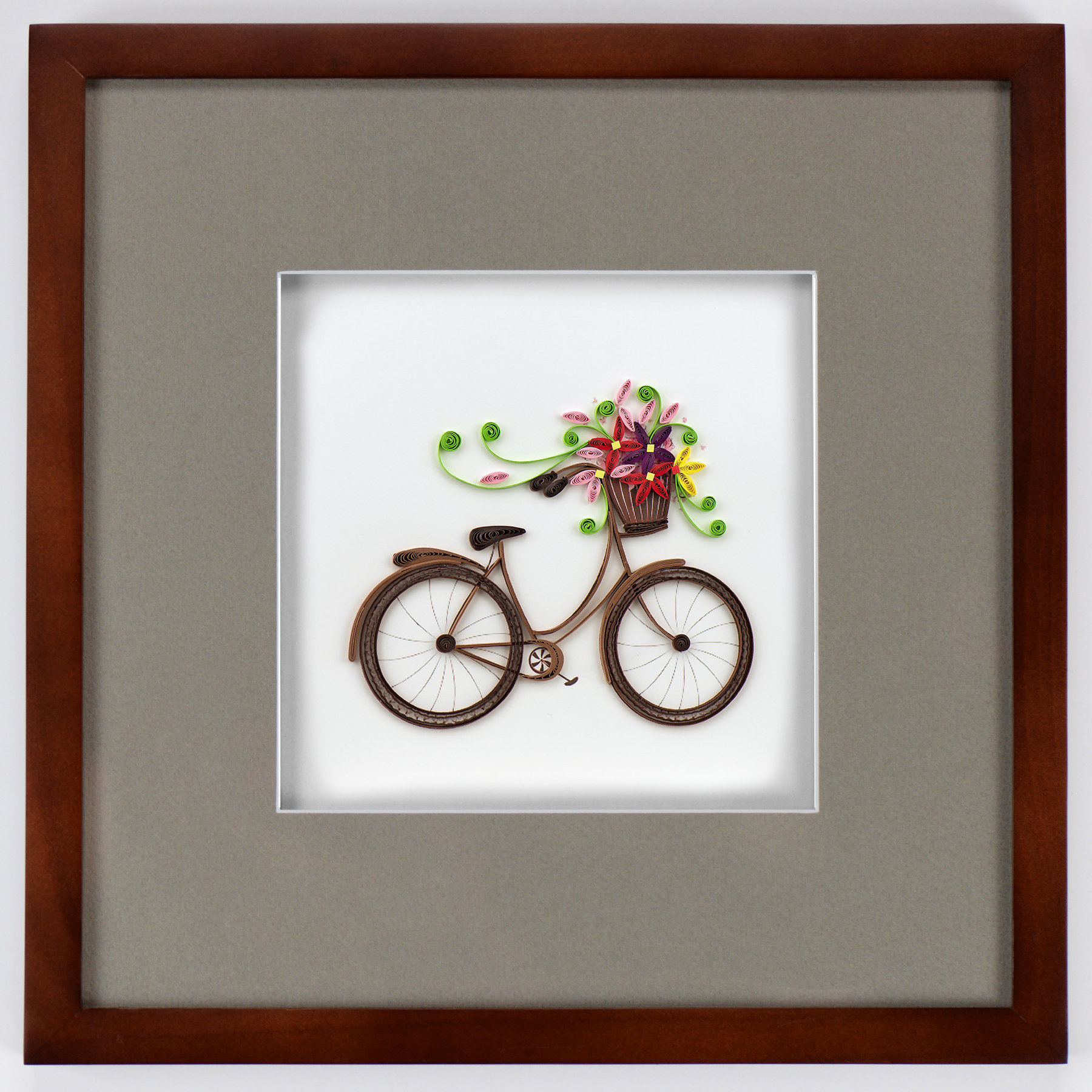 Bike Wall Decor By August Grove Regarding Well Known August Grove Bicycle With Flower Basket Framed Wall Decor (View 5 of 20)