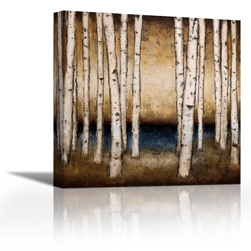 Birch Landing – Contemporary Fine Art Giclee On Canvas Gallery Wrap Regarding Most Popular Landing Art Wall Decor (Gallery 16 of 20)