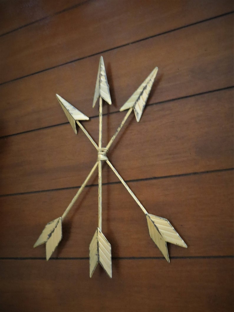 Brown Metal Tribal Arrow Wall Decor Regarding Fashionable Arrow Wall Decor / Bohemian Boho Chic Style / Tribal Indian (Gallery 2 of 20)