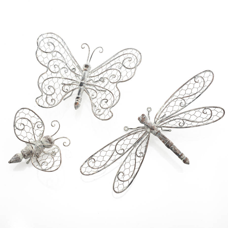 Butterfly, Dragonfly Or Bee Wall Decorthe New Eden Inside Latest Dragonfly Wall Decor (View 2 of 20)